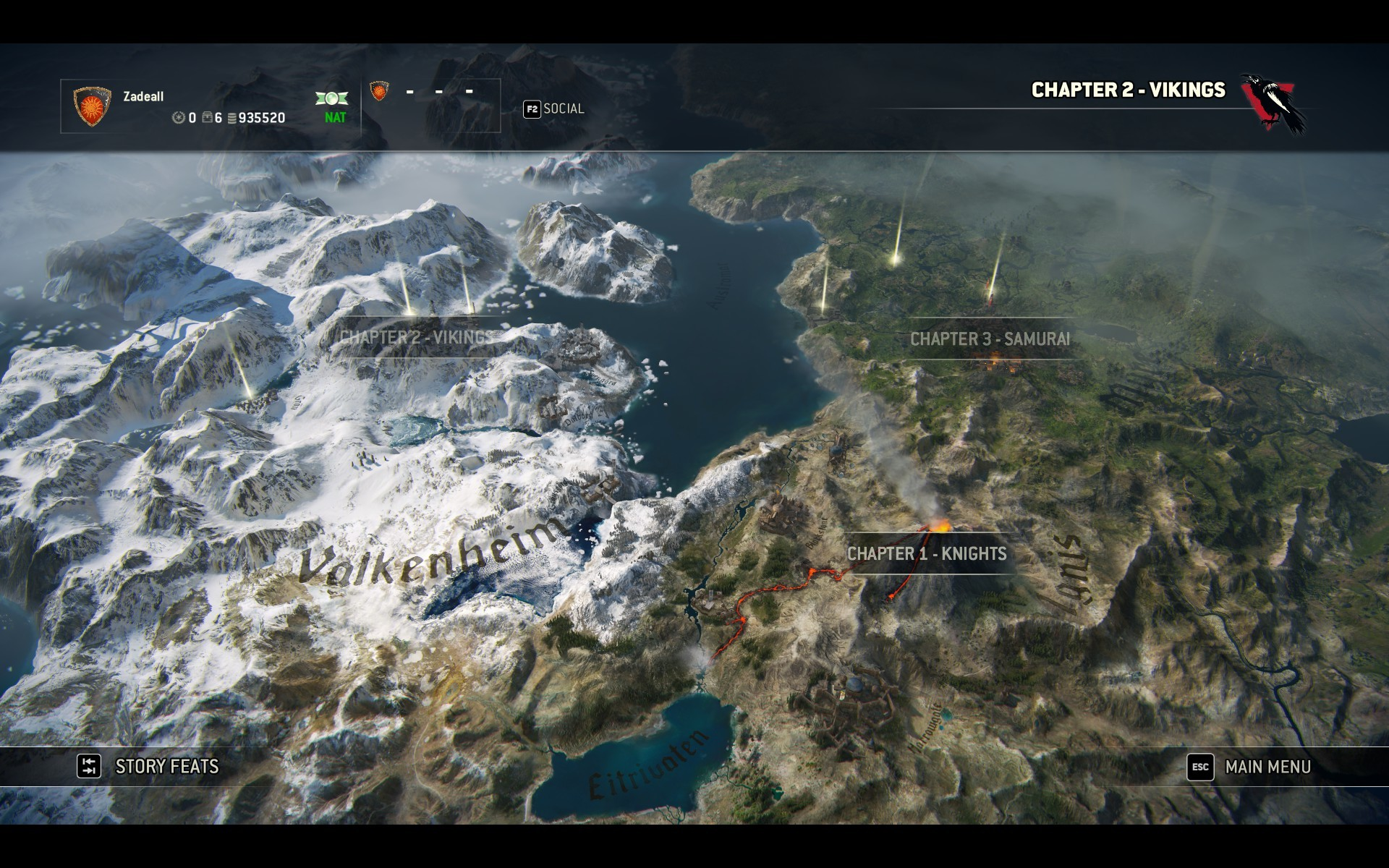 Artstation for honor andrew waddingham shot of the world map i helped build using world machine and photoshop gumiabroncs