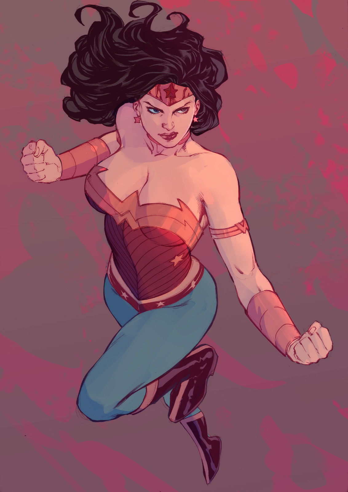 Michael doig wonderwoman lines fredbenes colour michaeldoig