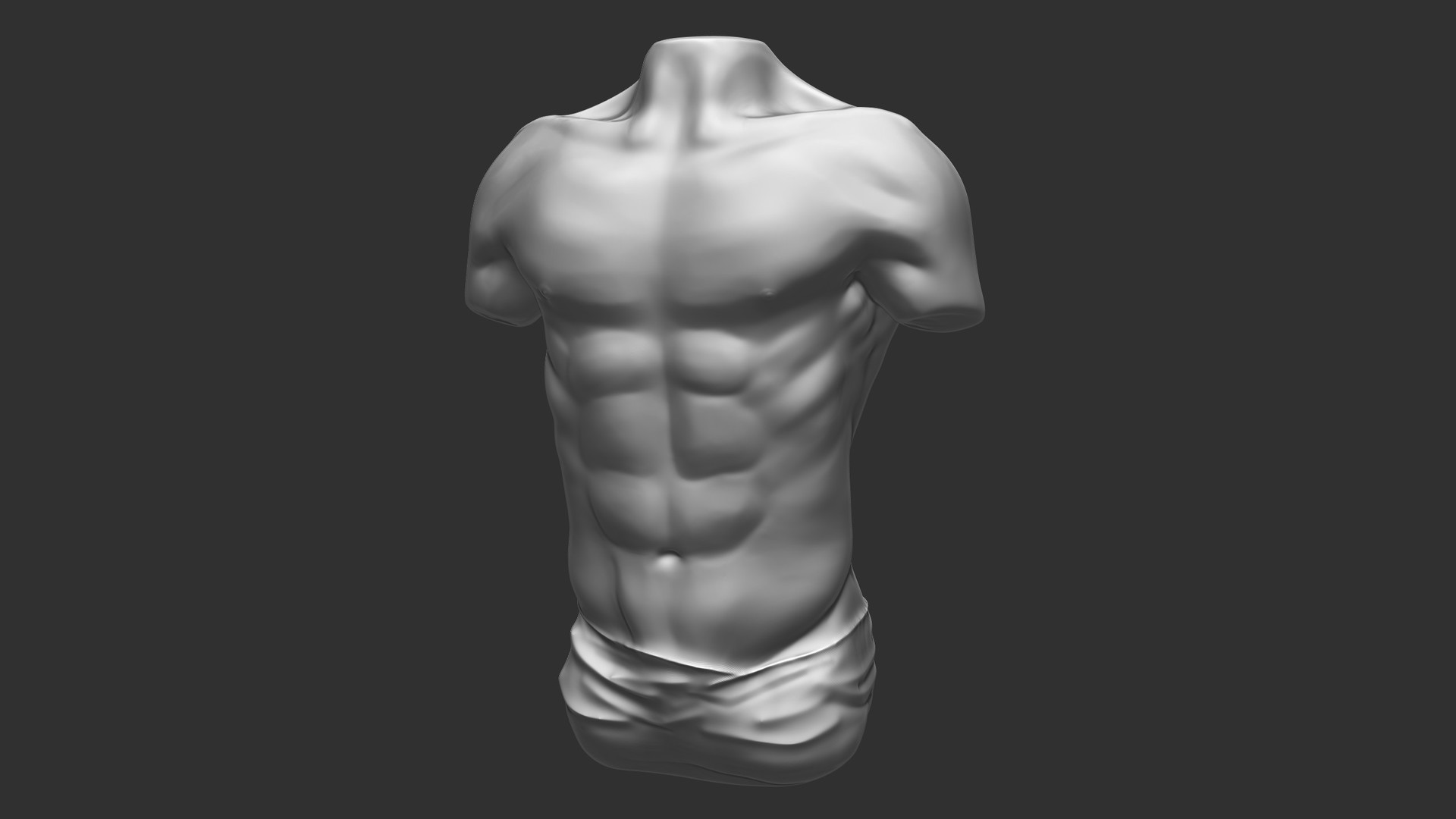 Bruno de maeyer male torso white material