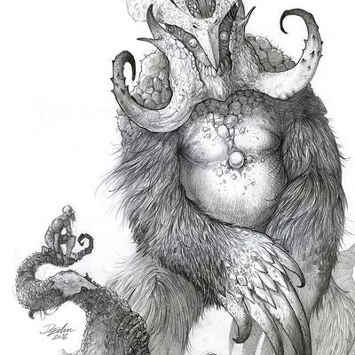 Edin durmisevic forest creature illustration