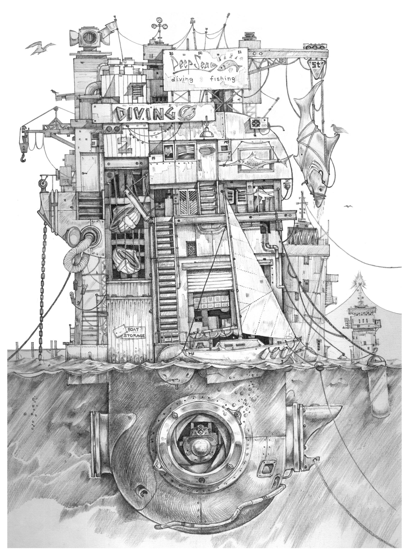ArtStation Floating ibuildingi iconcepti sketch Matthew