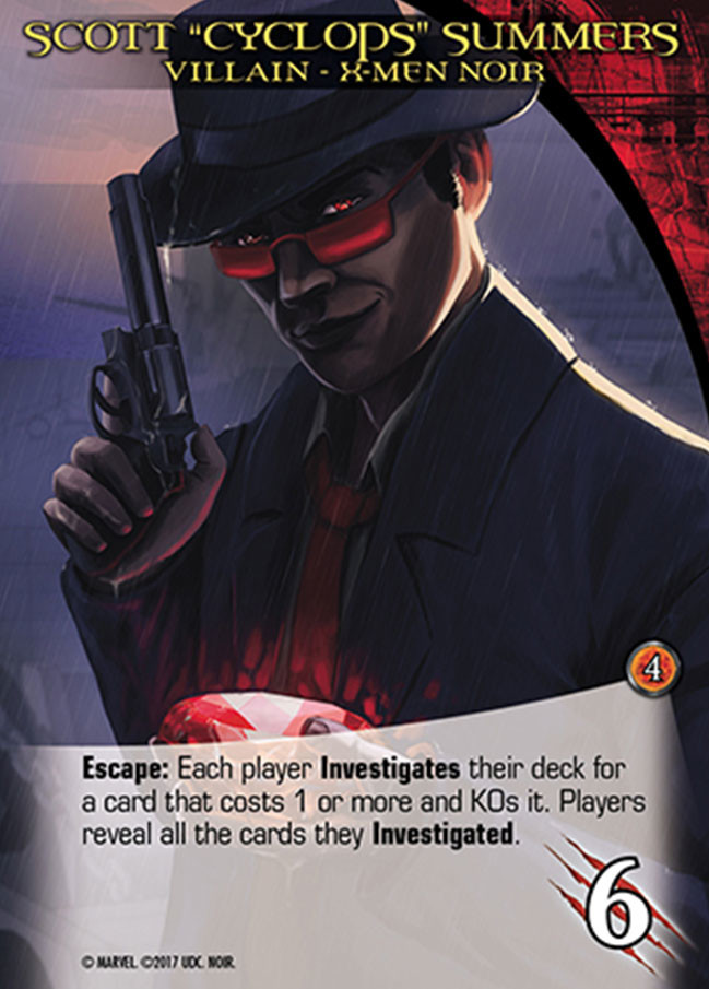 Danny kundzinsh 2017 upper deck legendary marvel noir investigate card preview villain cyclops