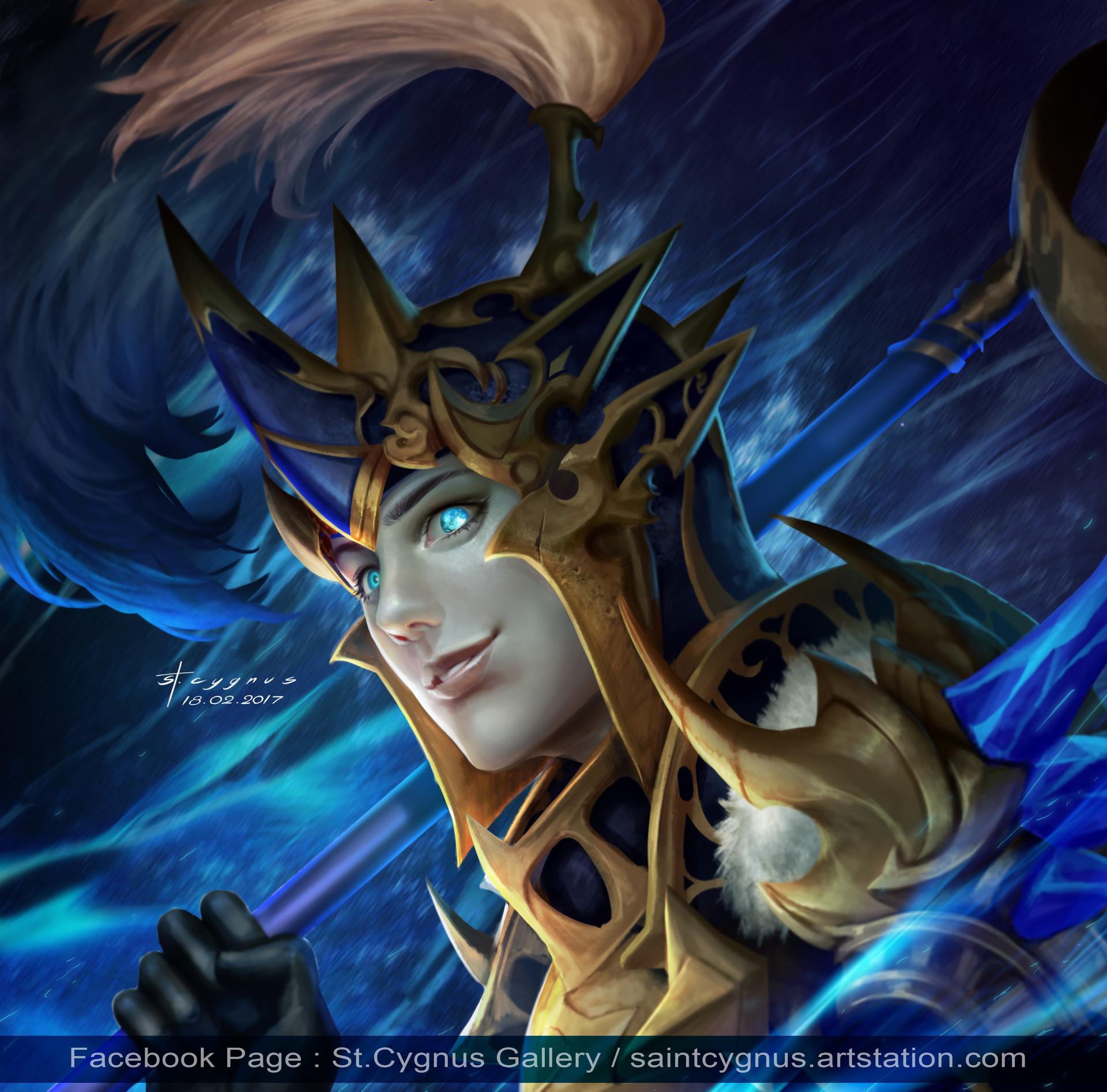 ArtStation - FanArt : Dellons Awaken (Seven Knights), St  Cygnus