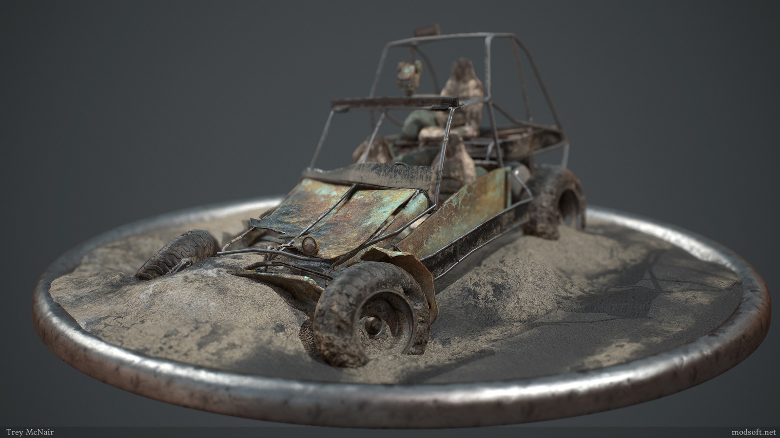 Destroyed Vehicle Diorama