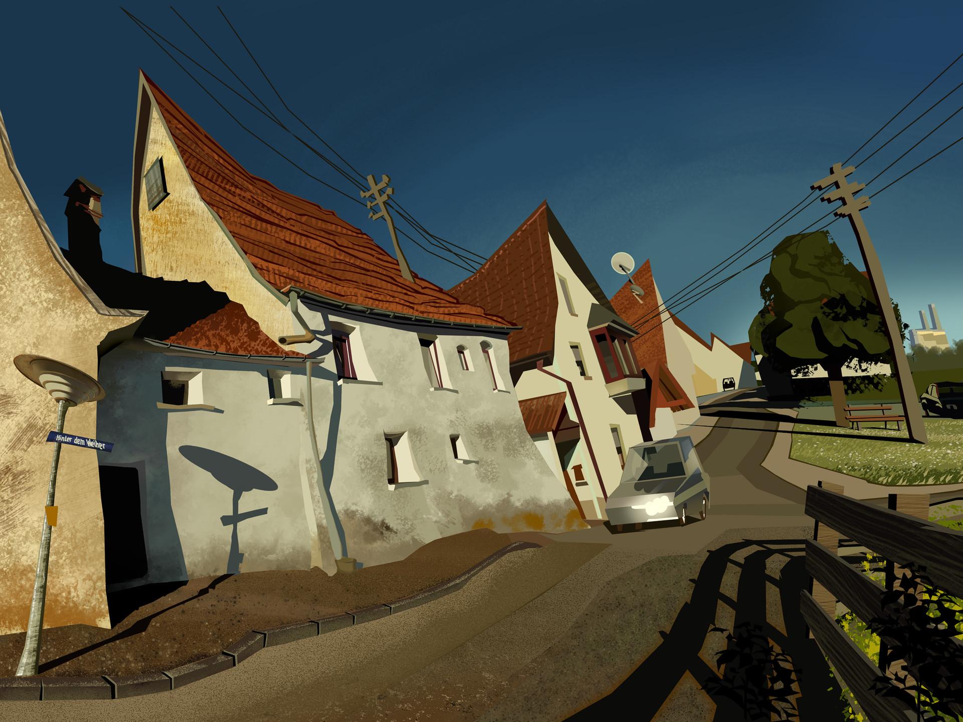 Harald ardeias village street