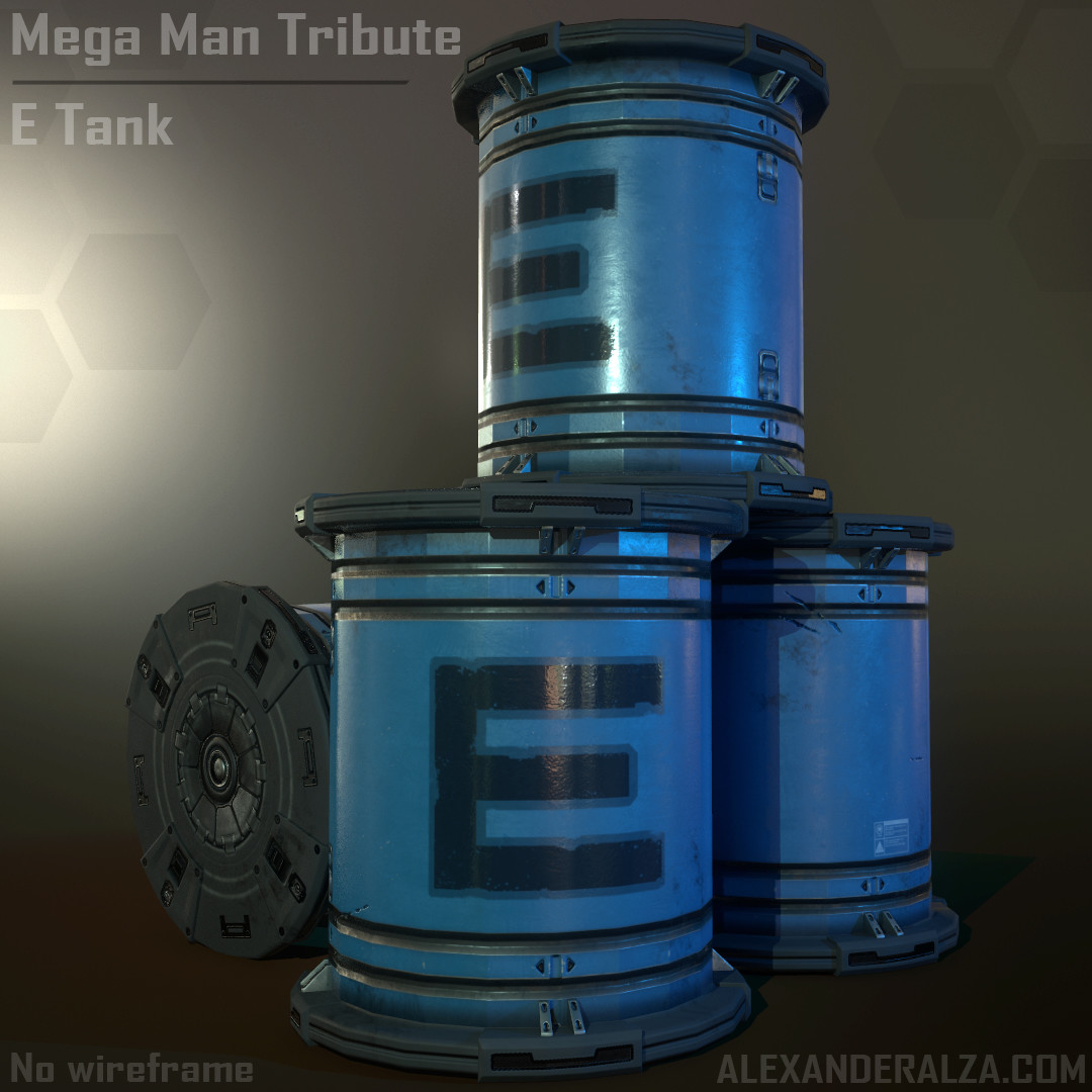Mega Man Tribute - E Tank (no wireframe)
