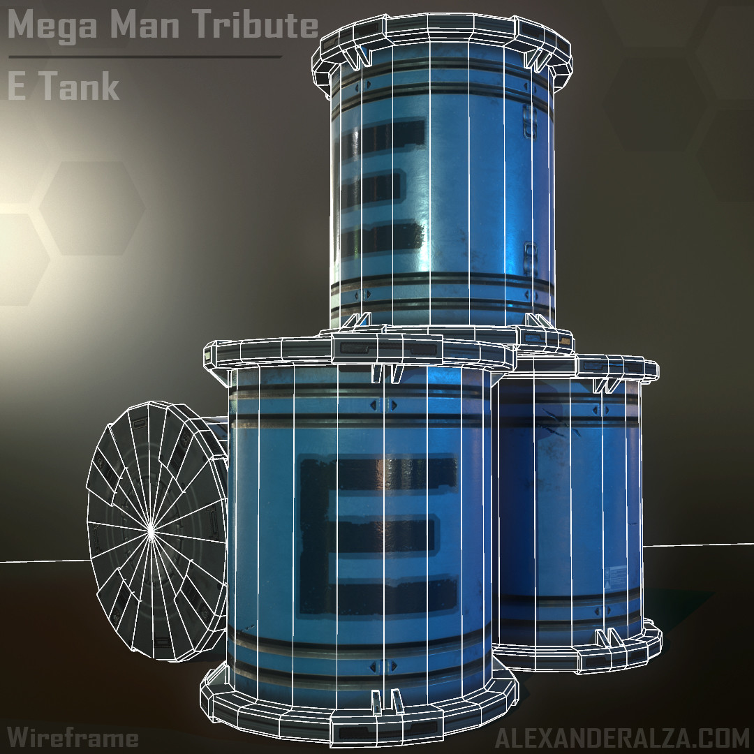 Mega Man Tribute - E Tank (wireframe)