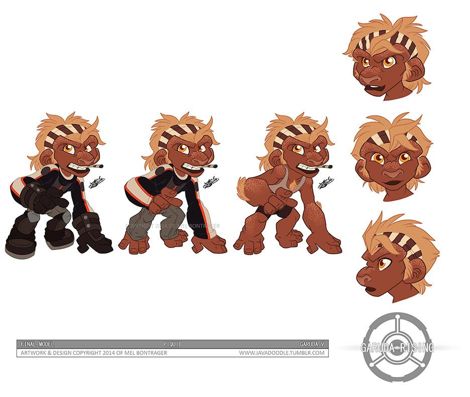 Piquid Character Design