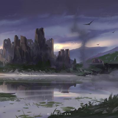 Nele diel lake ruin