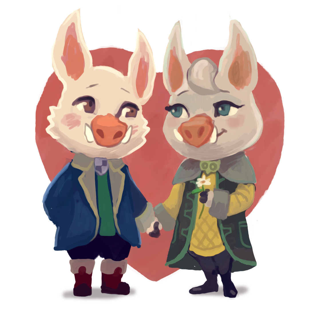 A quick Valentine's Day illustration :)