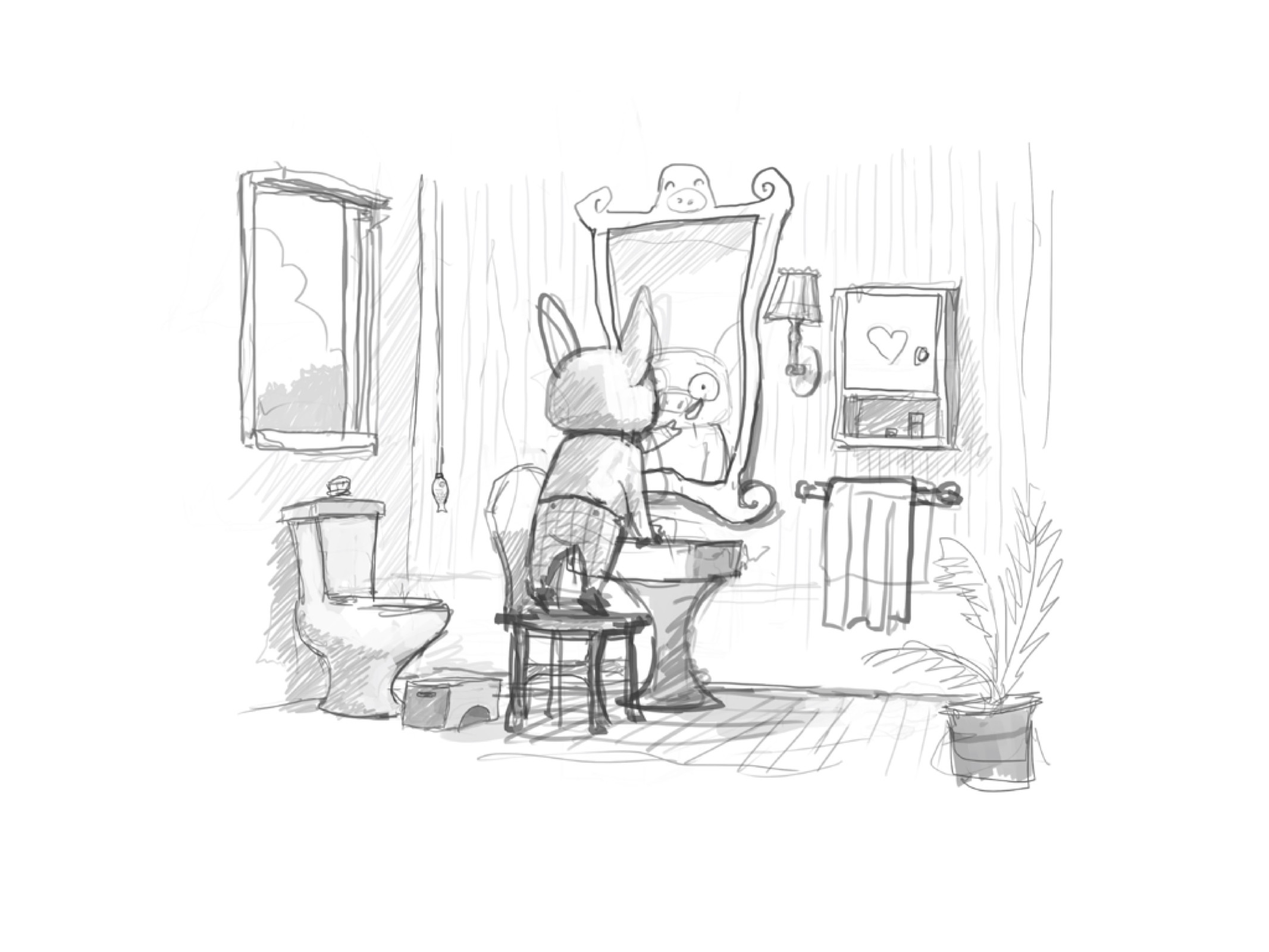 Bathroom sketch