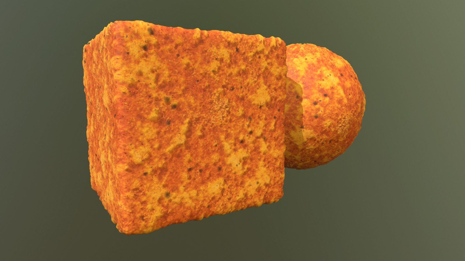 Yes, this is a Doritos substance material I made that is available on substance share.