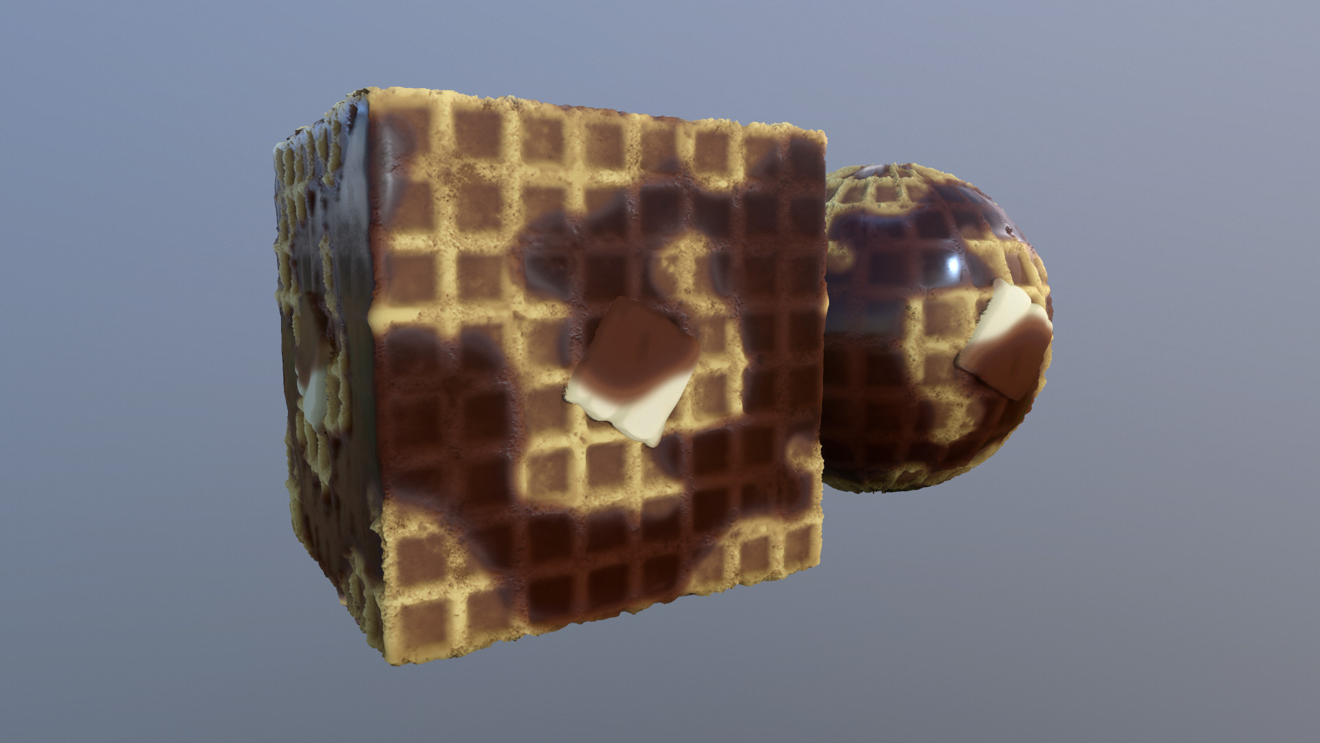Yes, this is a waffle substance material I made that is available on substance share.