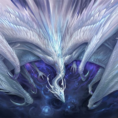 Sandara tang white crystal dragon by sandara dakqgry