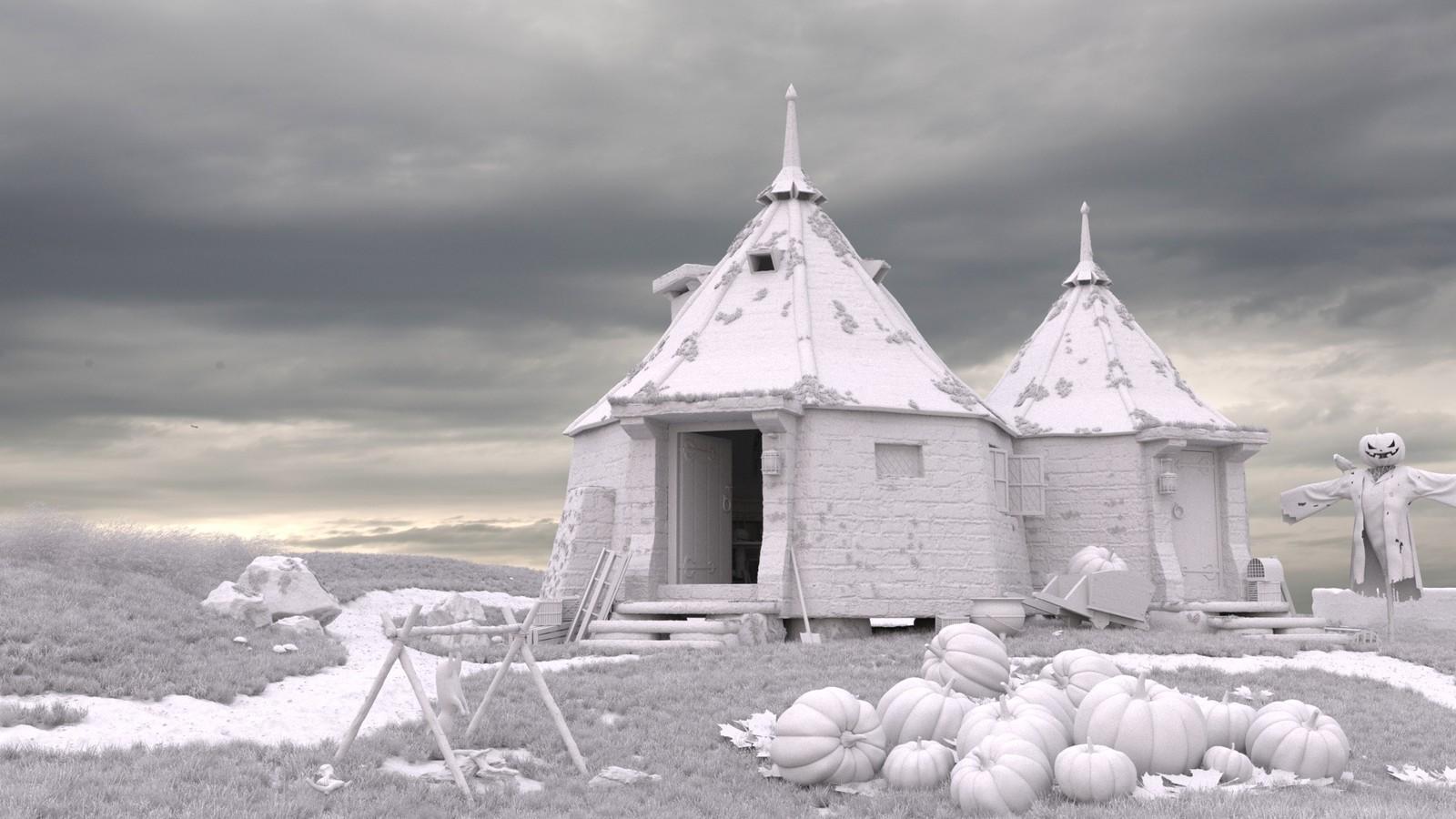 Hagrids Hut Clay
