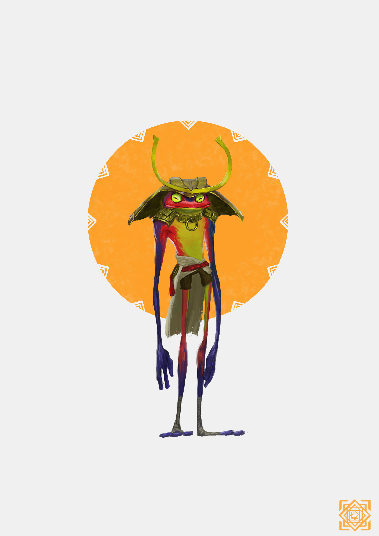 Artstation Ch Dekh The Samurai Frog Timothy H