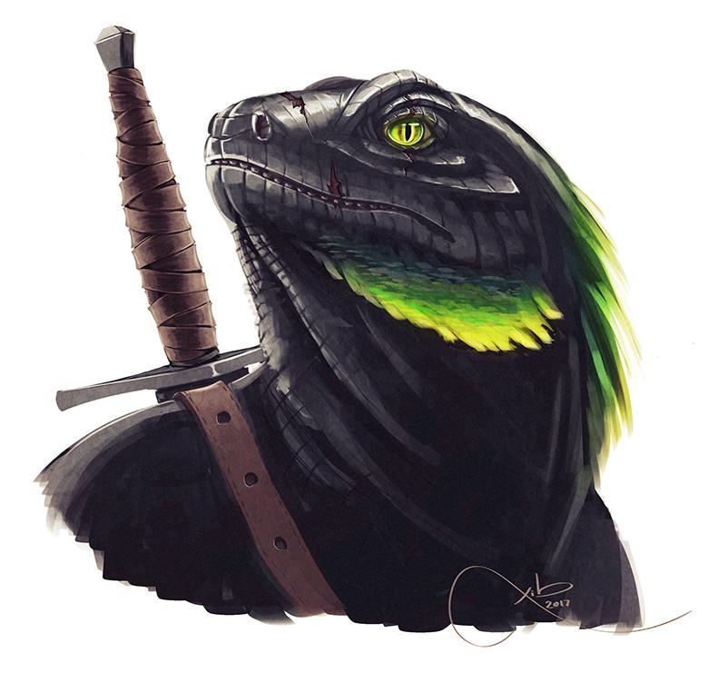 Lizardfolk Portrait, Xib Vaine