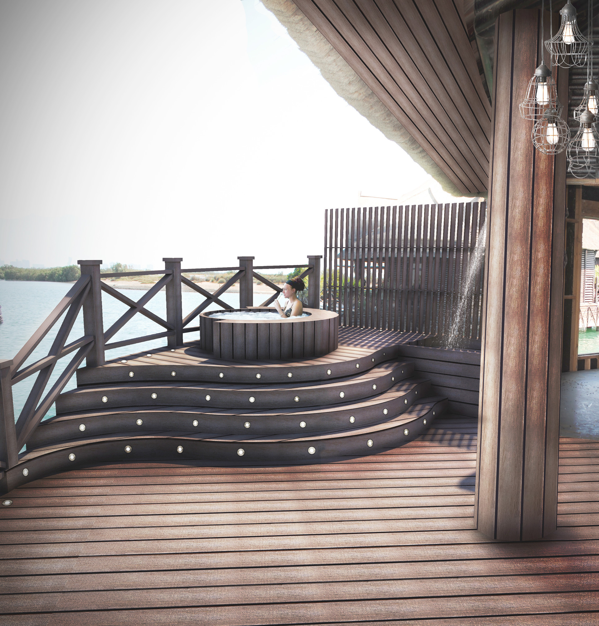 Manuel piedra decking area small