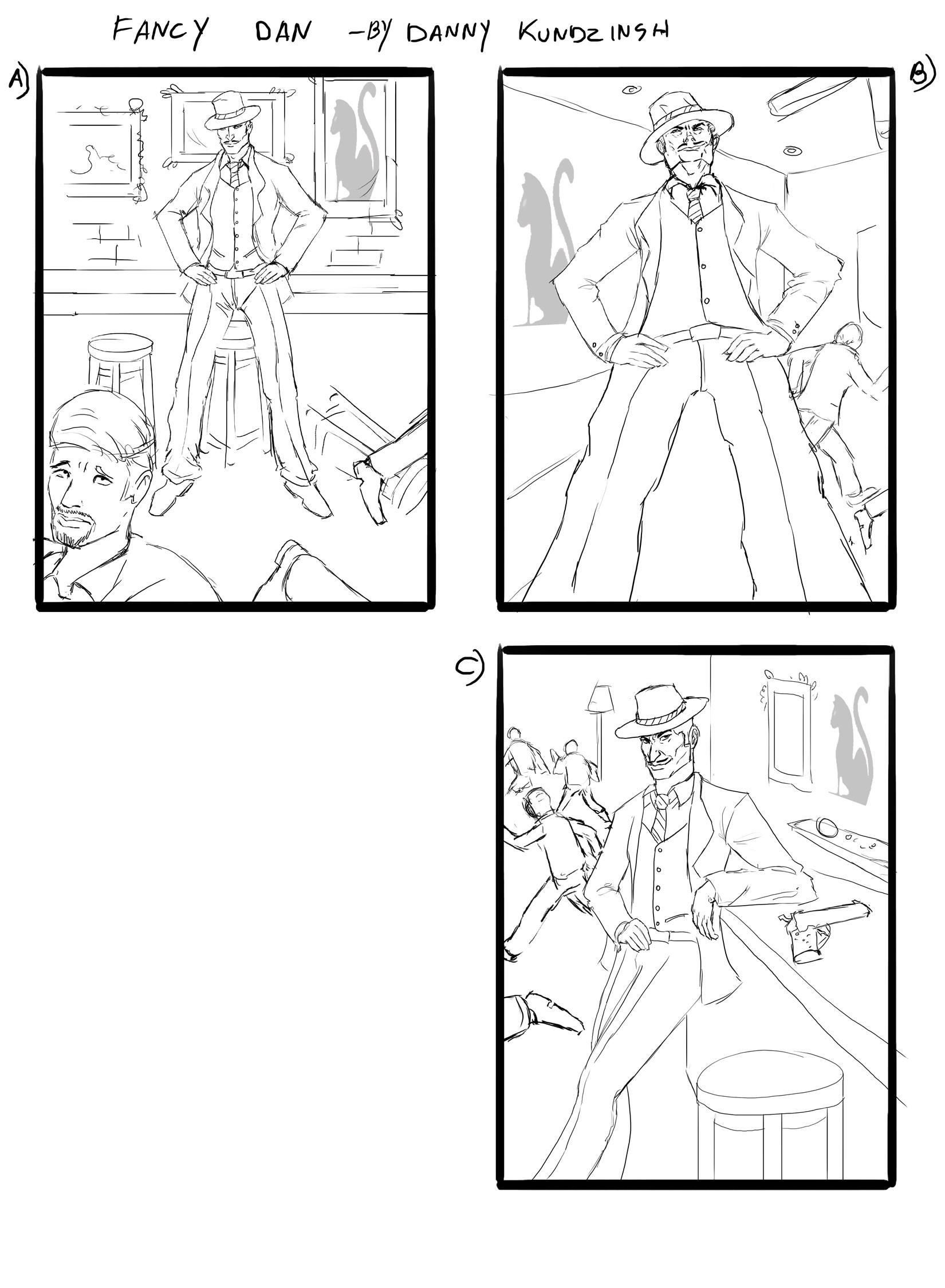 Danny kundzinsh fancy dan sketches