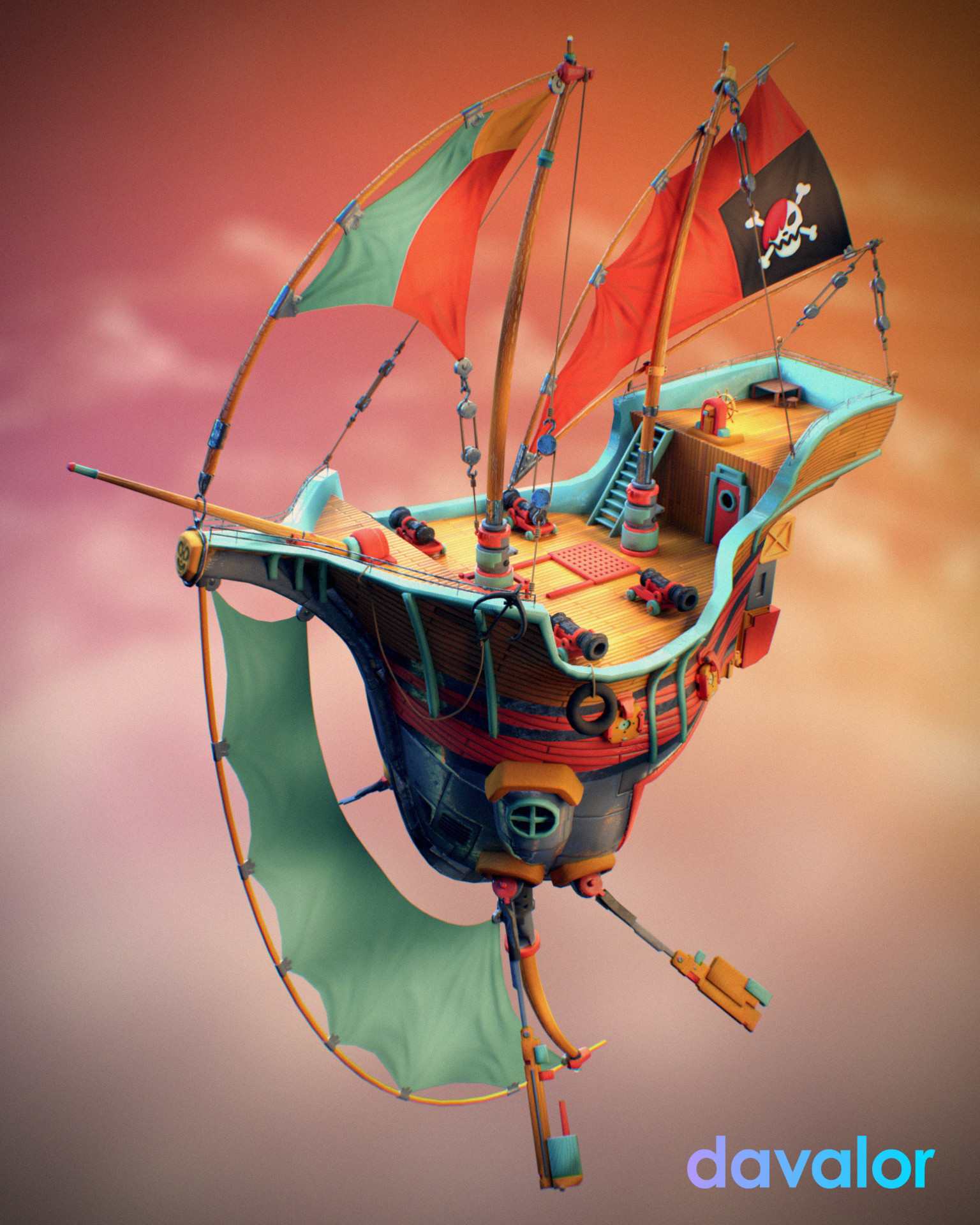 Sendoa bergasa pirate ship 01