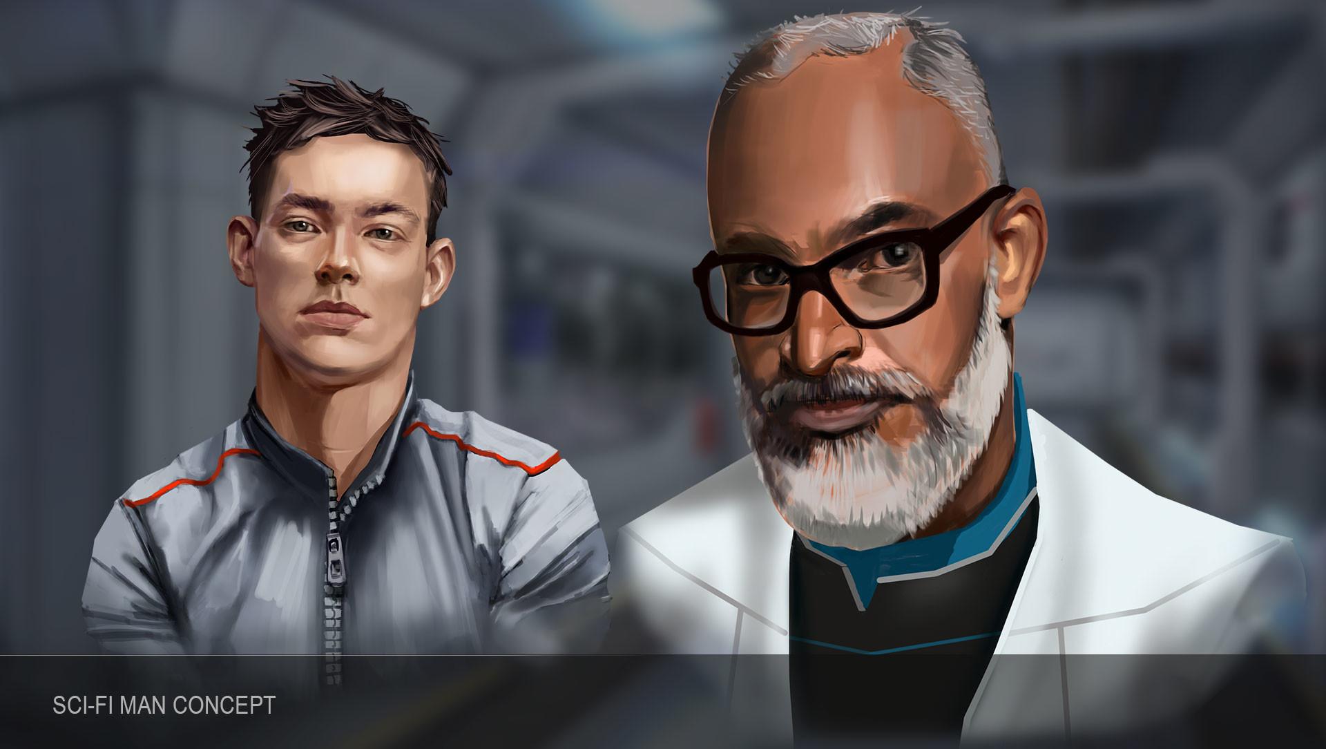 Combo 21 team man scifi 2