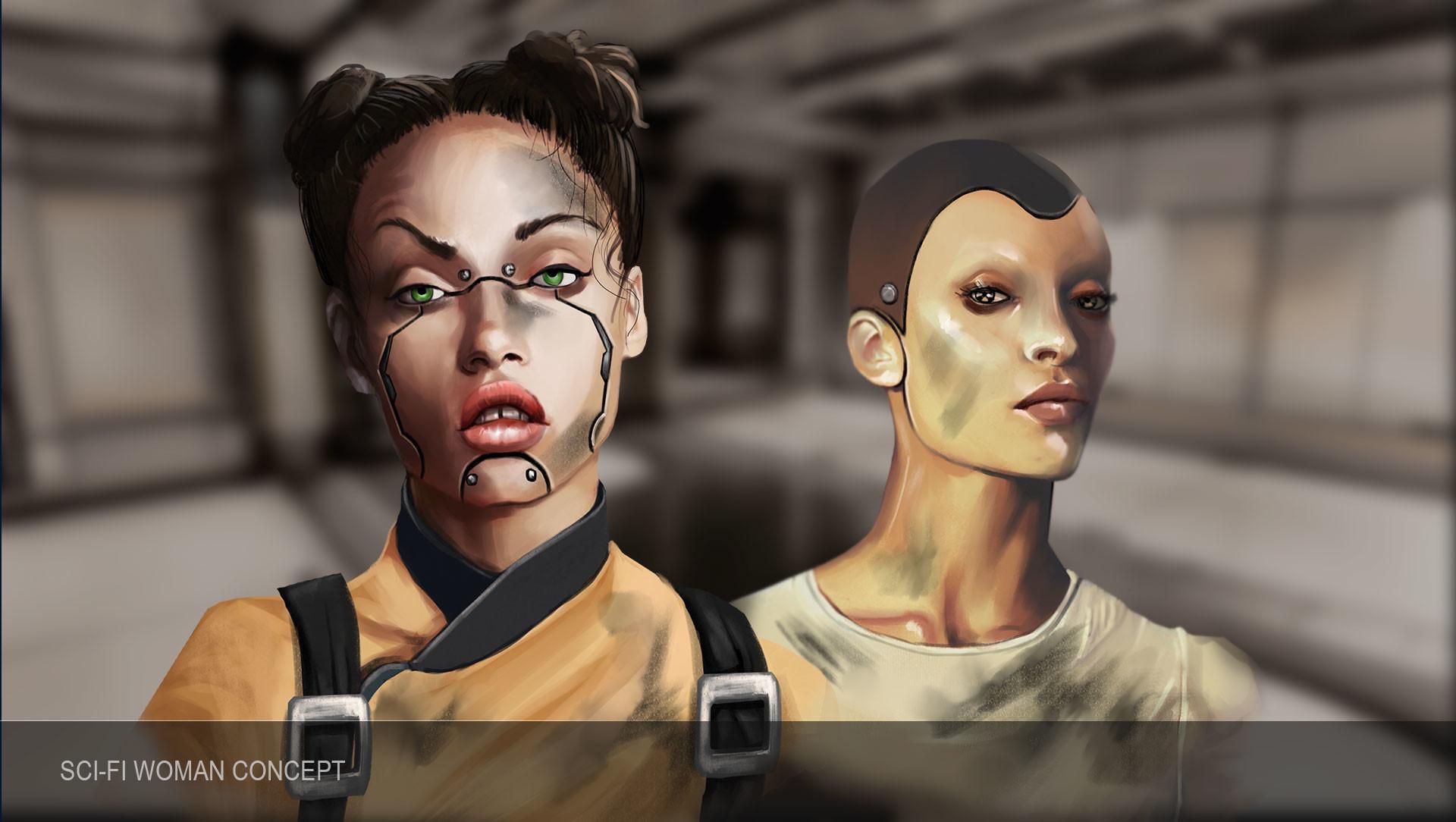 Combo 21 team woman scifi 3