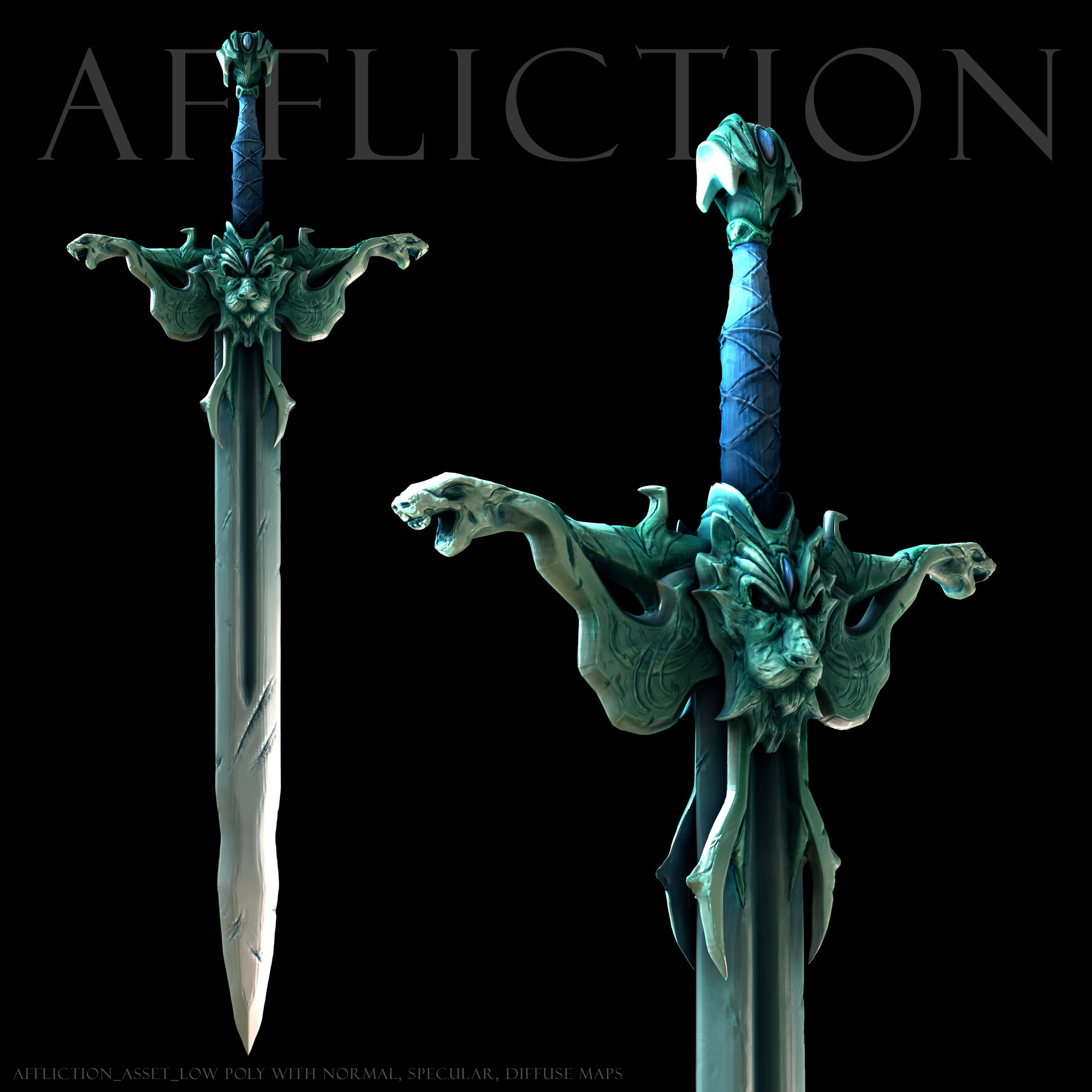 Lil bit o 3D - Affliction Sword from a previous design of mine