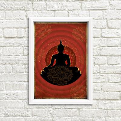 Rajesh sawant buddha mockup