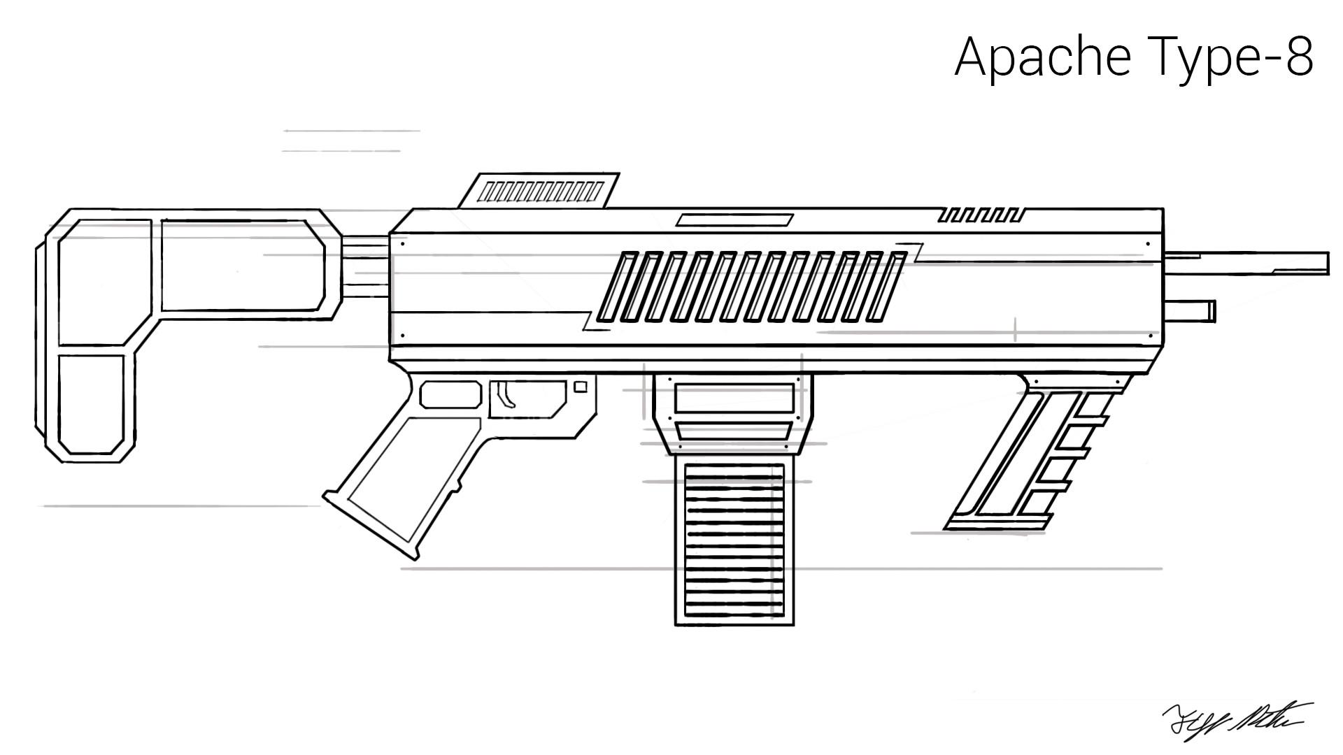 artstation apache type 8 gun concept tyler butler