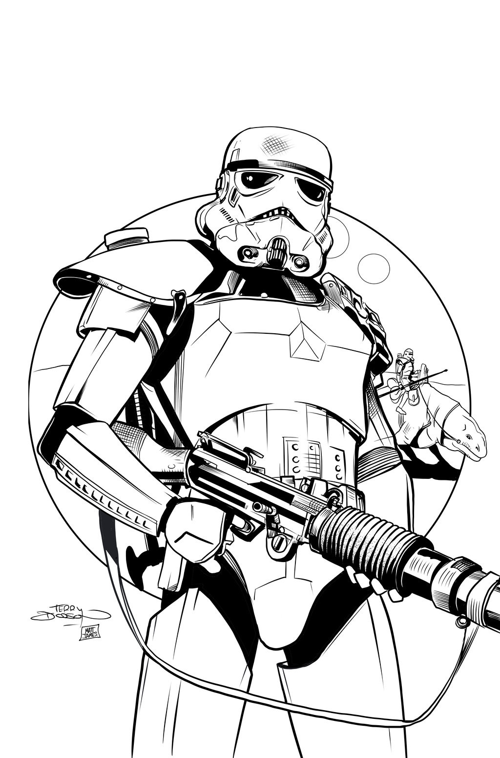 Matt james star wars issue 20 practice inks by snakebitartstudio db02xfy