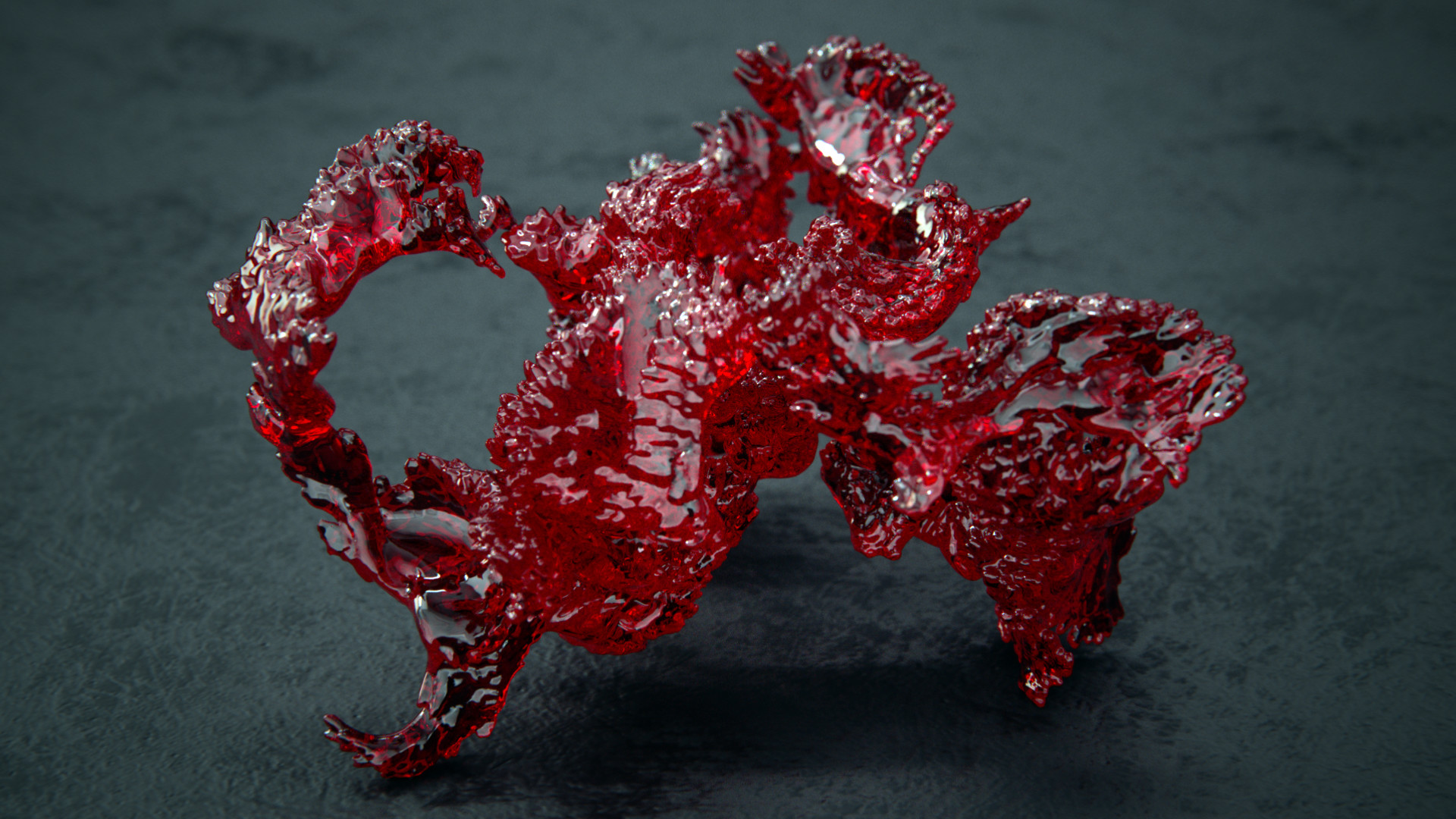 Reinhard kepplinger mm turbosmoothed collapsed recursive growth v2 frame66 ruby red iso500 can2