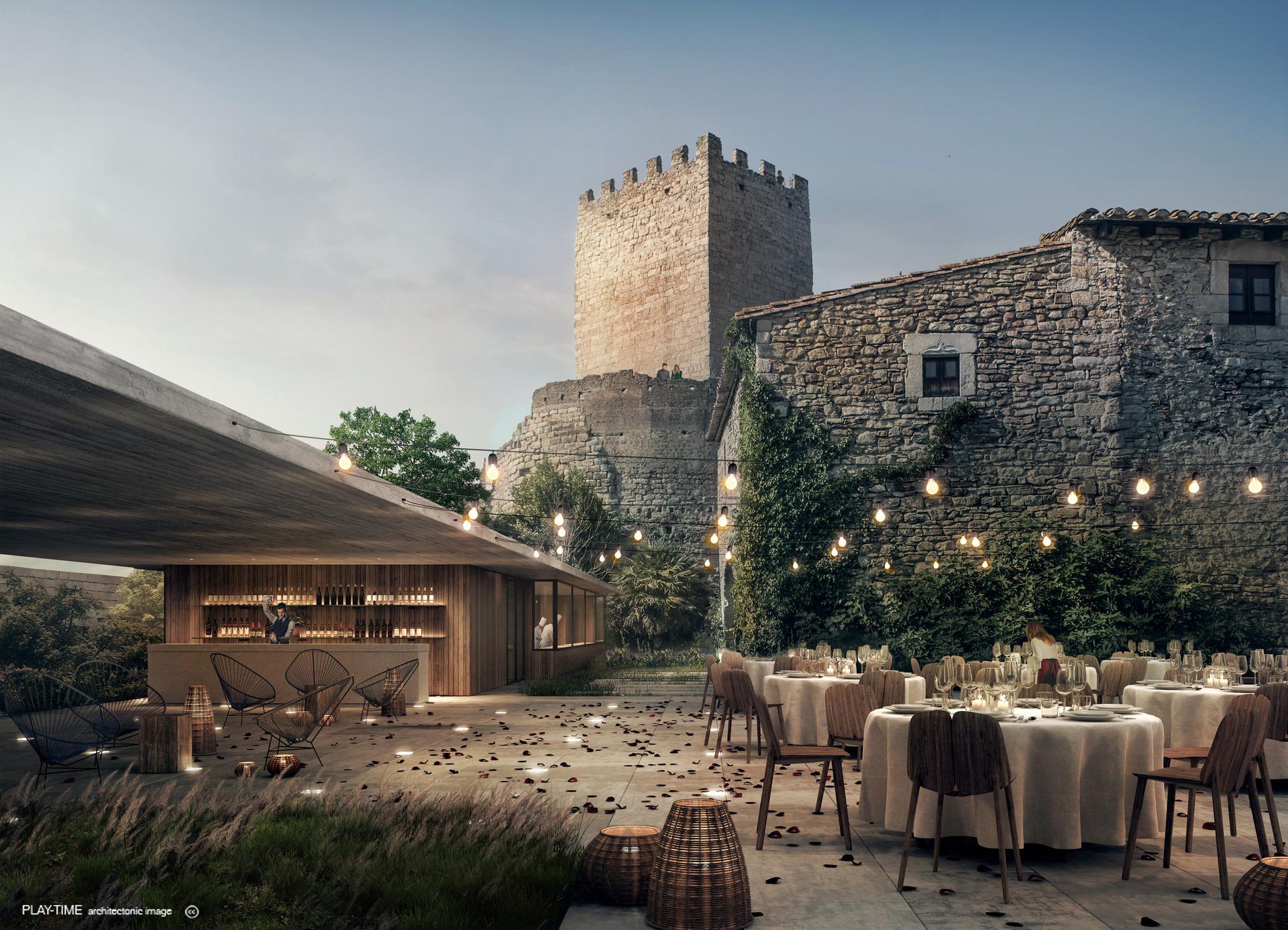 Play time architectonic image mesura rehabilitacio del castell de peratellada 04