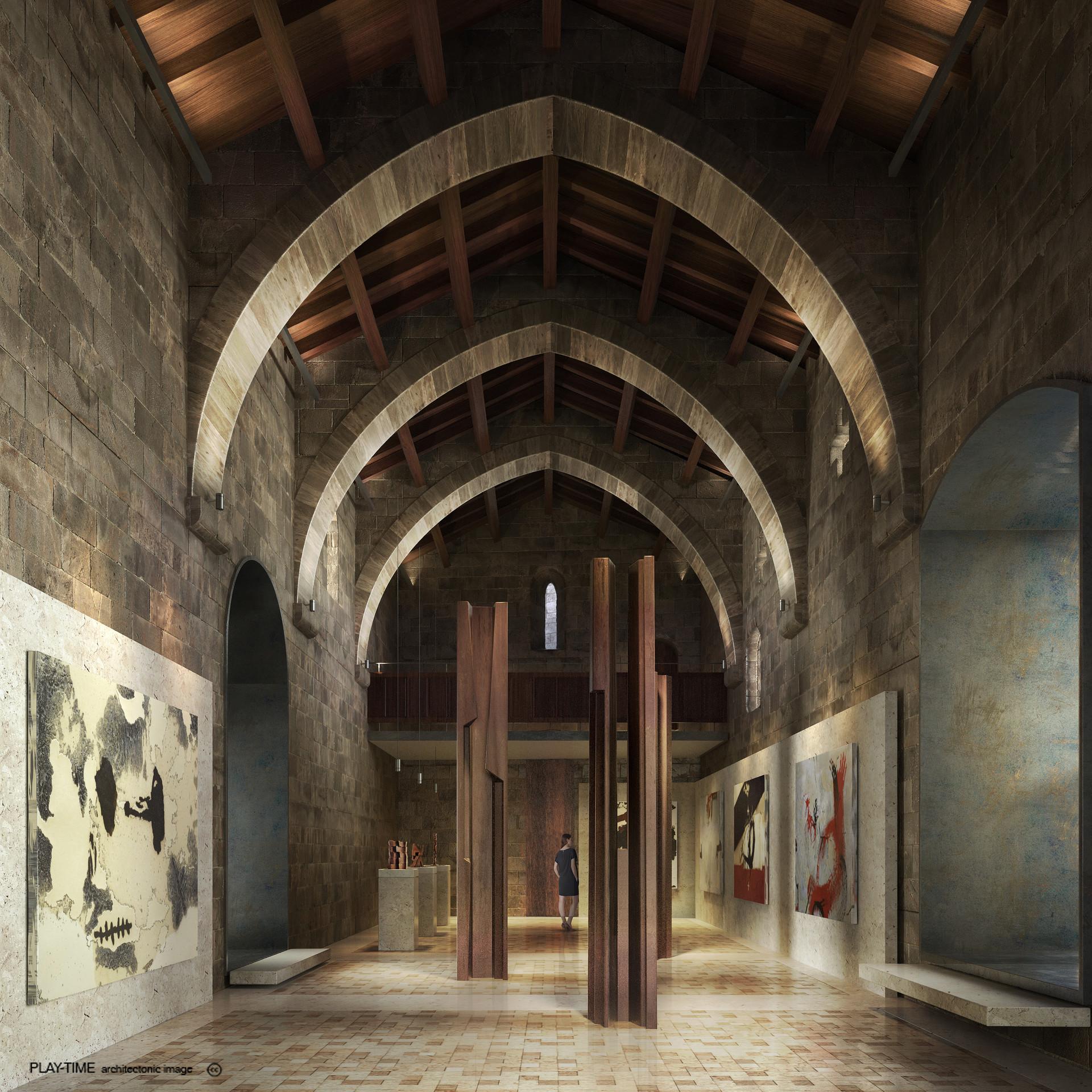 Play time architectonic image mesura rehabilitacio del castell de peratellada 02