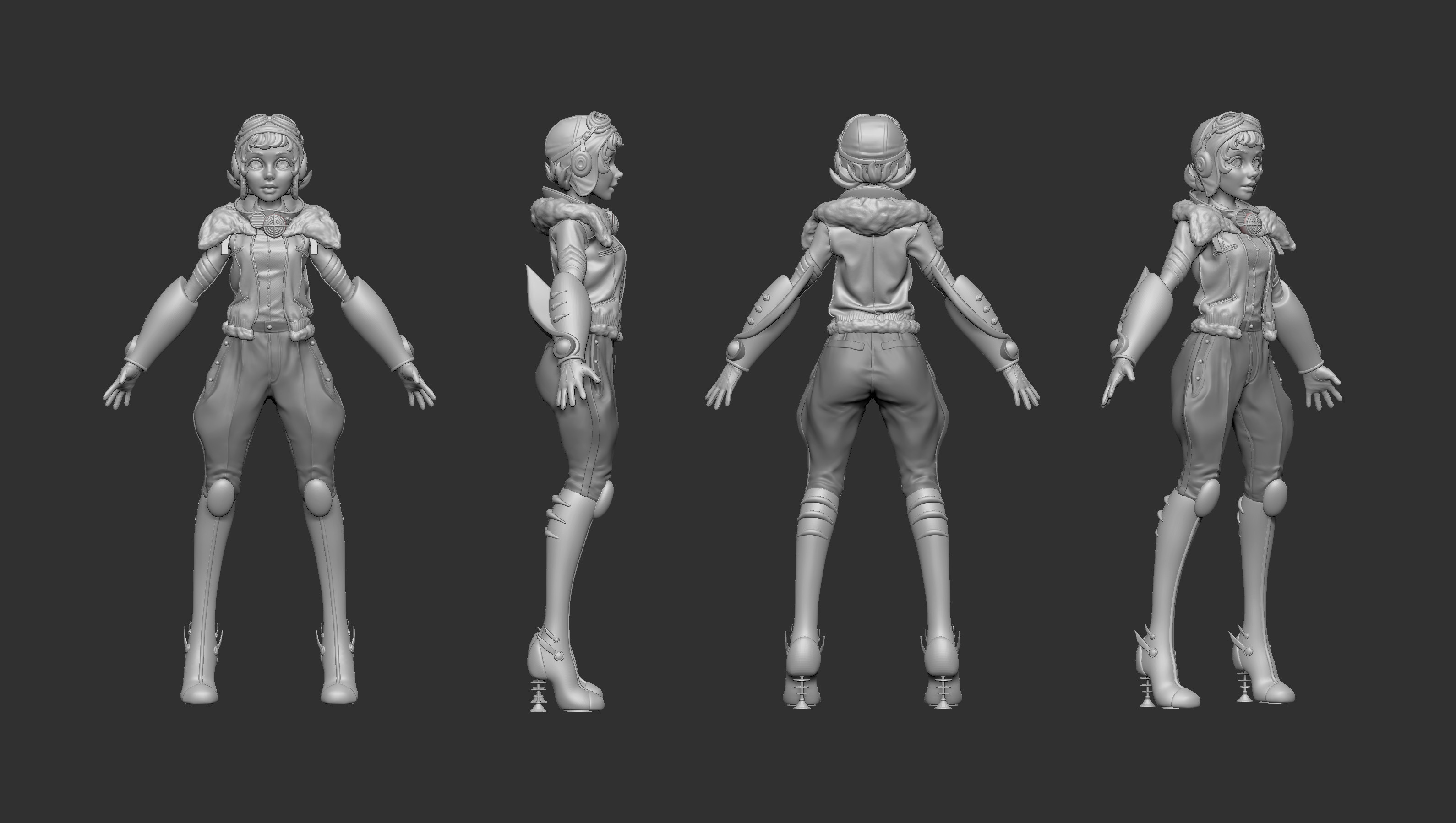 high poly zbrush