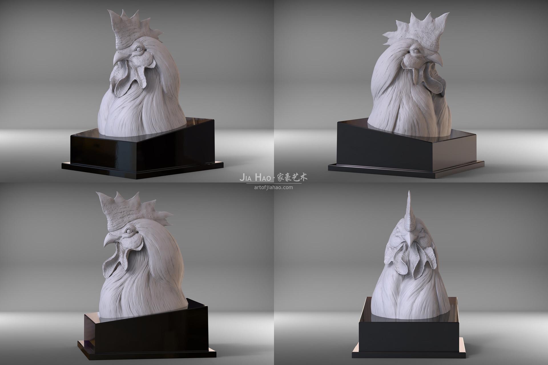 Jia hao 2017 sculpture majesticrooster modelpresentation