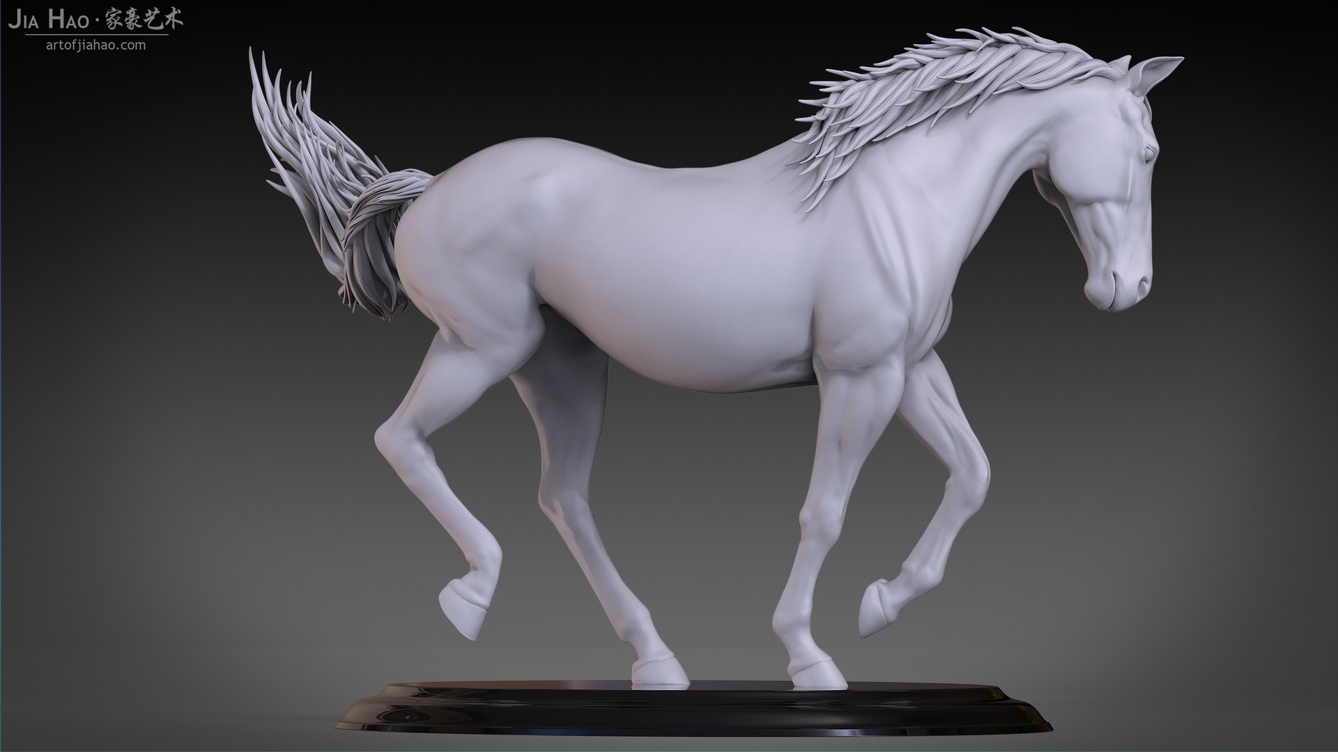 Jia hao horse sculpture comp clay 06