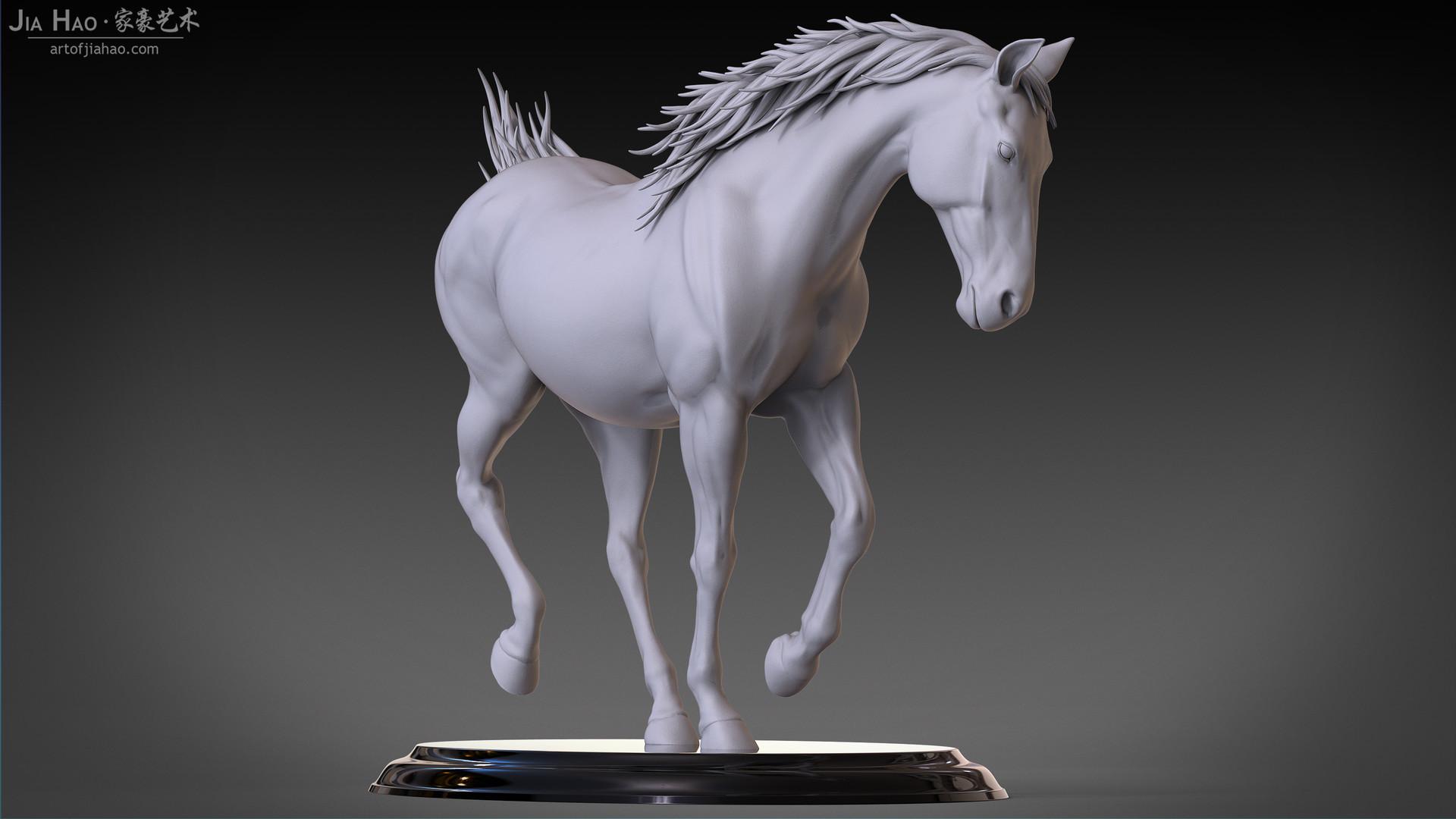 Jia hao horse sculpture comp clay 07