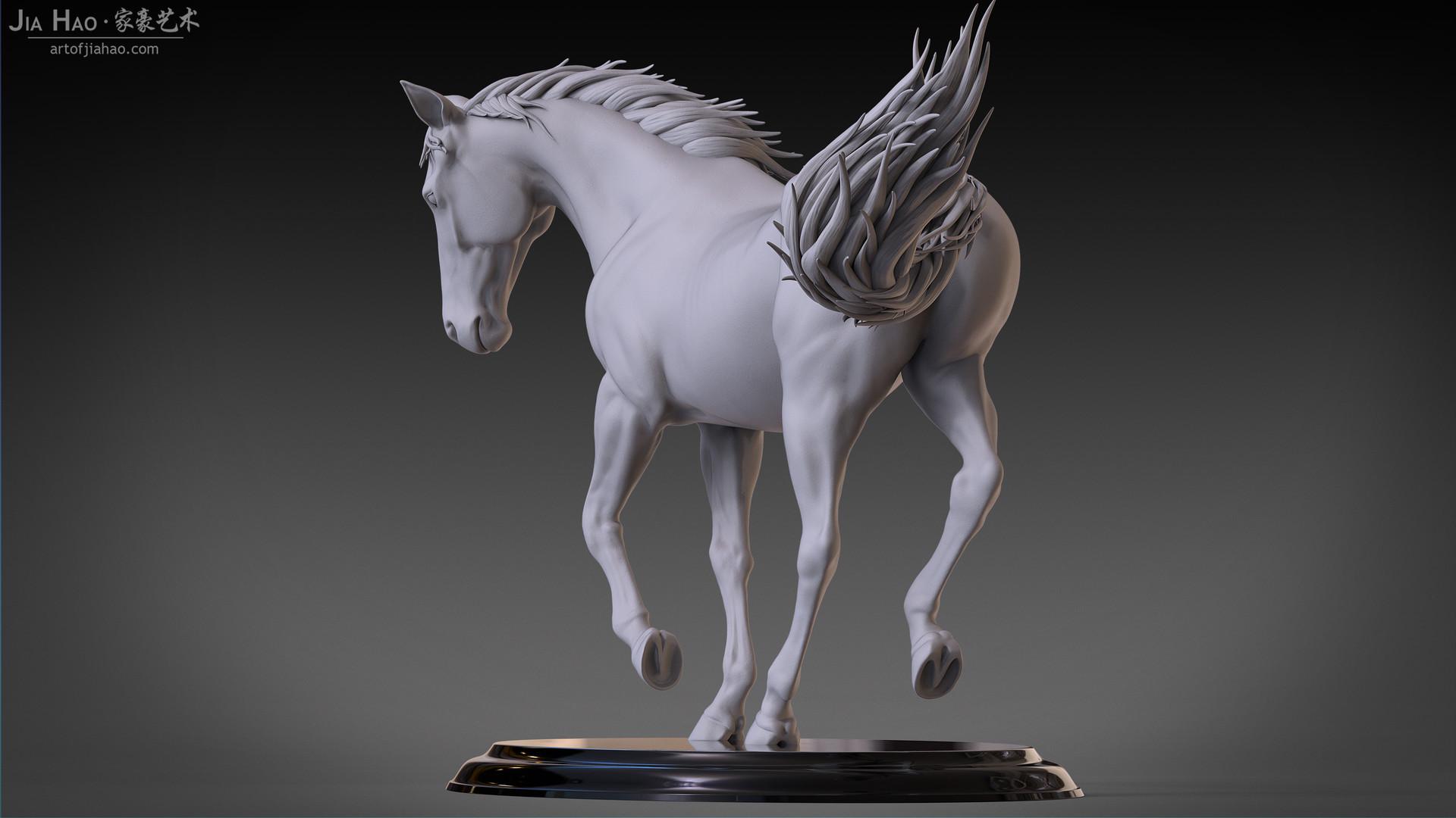 Jia hao horse sculpture comp clay 03