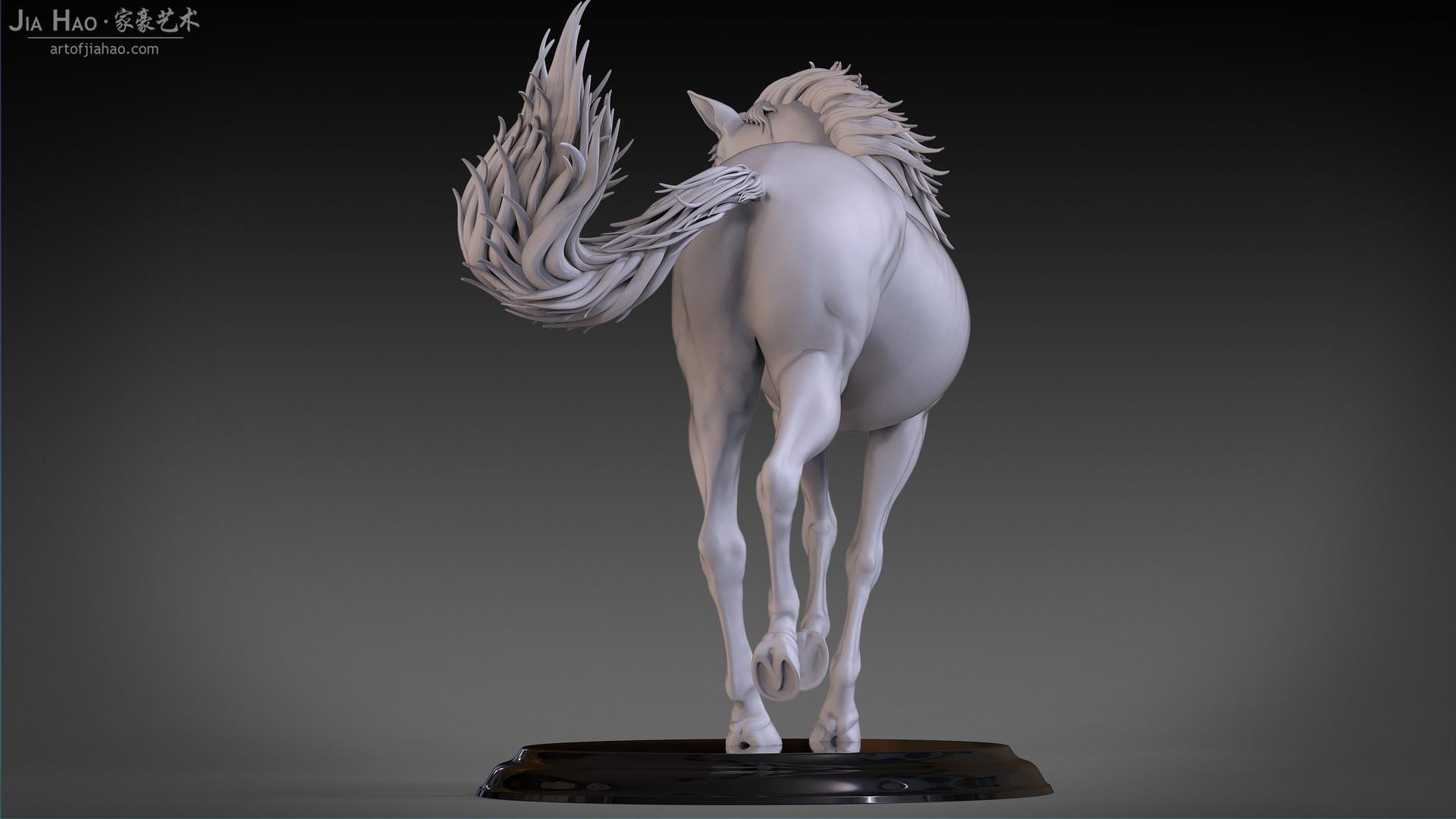 Jia hao horse sculpture comp clay 05