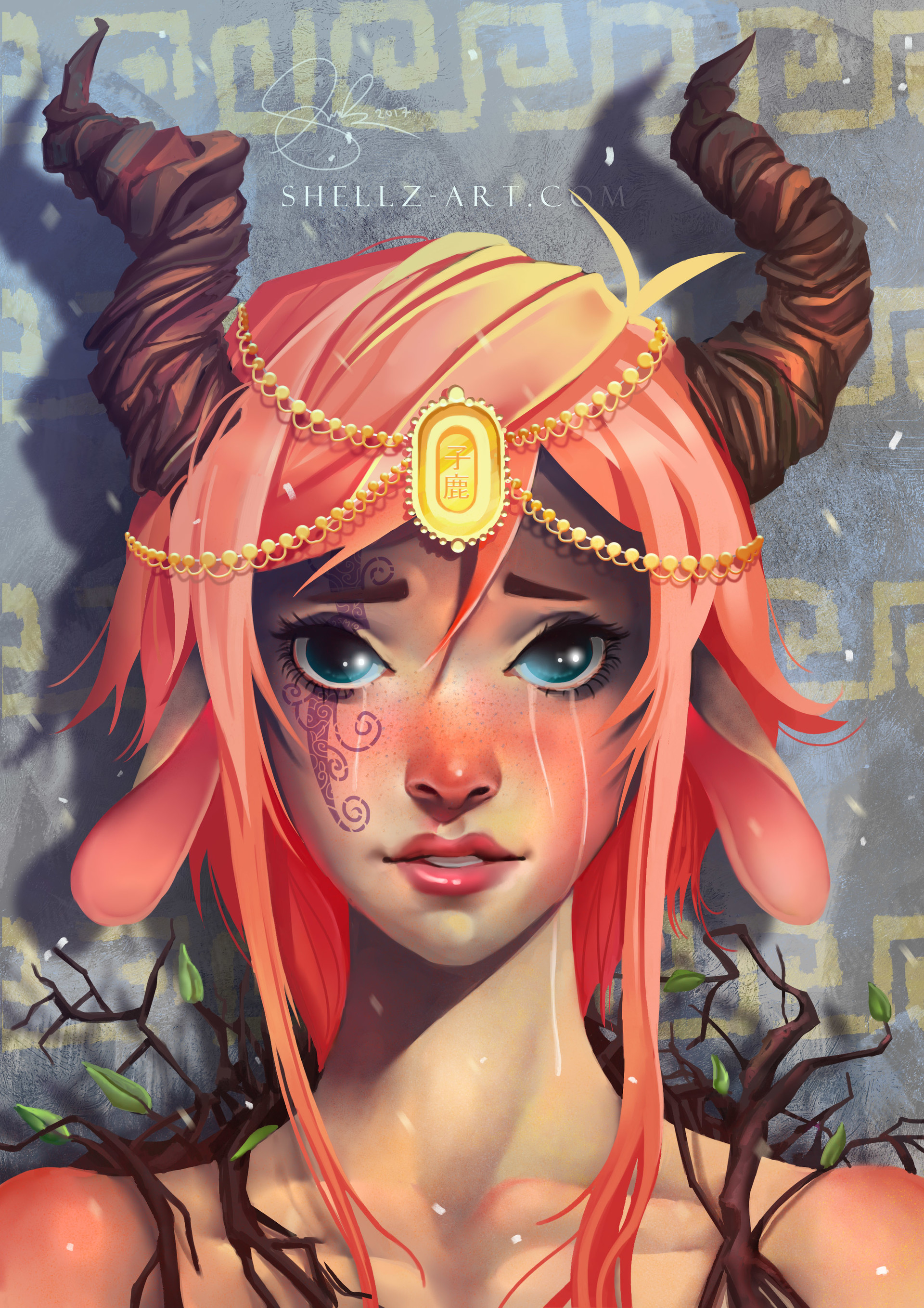 Shellz art fawn princess wip 13