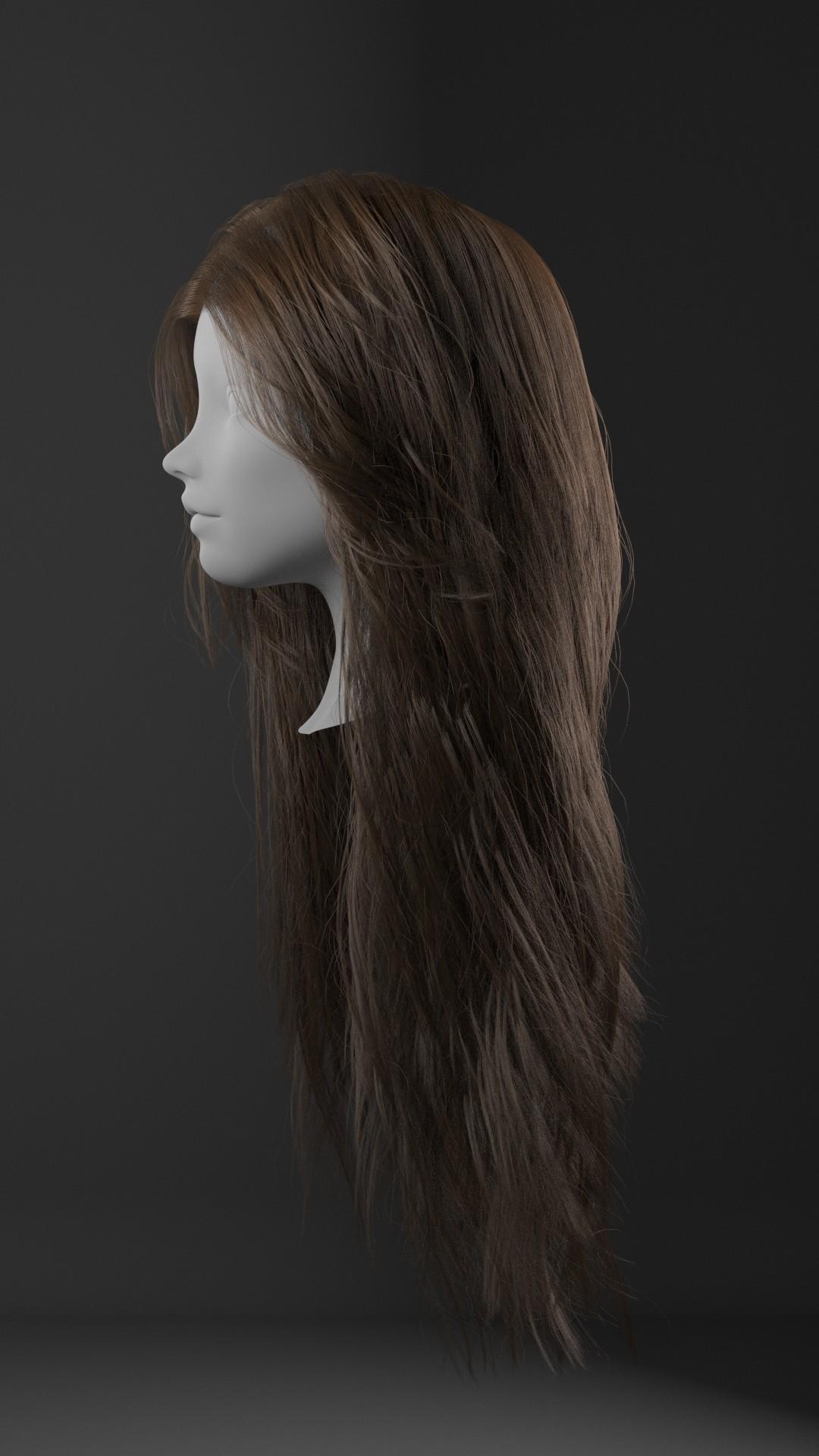 Realistic Hair Tutorial using XGen & Redshift _by Obaida Hamdi