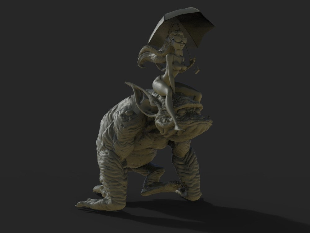 Keyshot render of the two characters put together.
