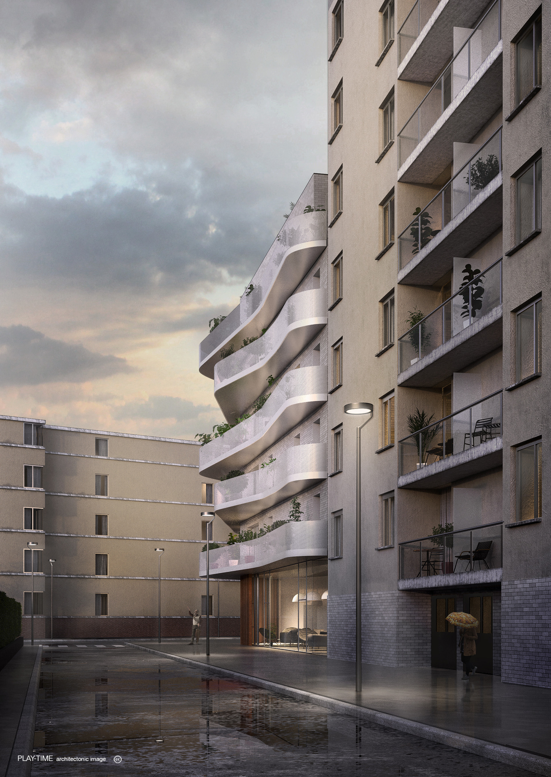 Play time architectonic image rdaa coopimmo logements et creche a bagneux 1r prix 02