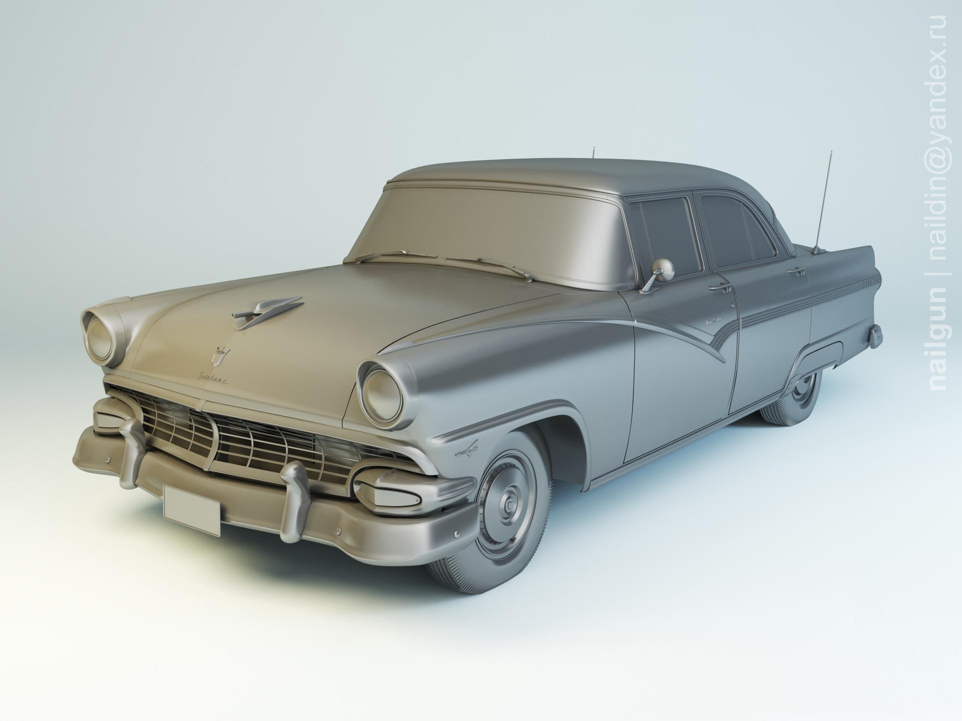 Nail khusnutdinov pwc 001 010 ford fairlane 1956 modelling 0