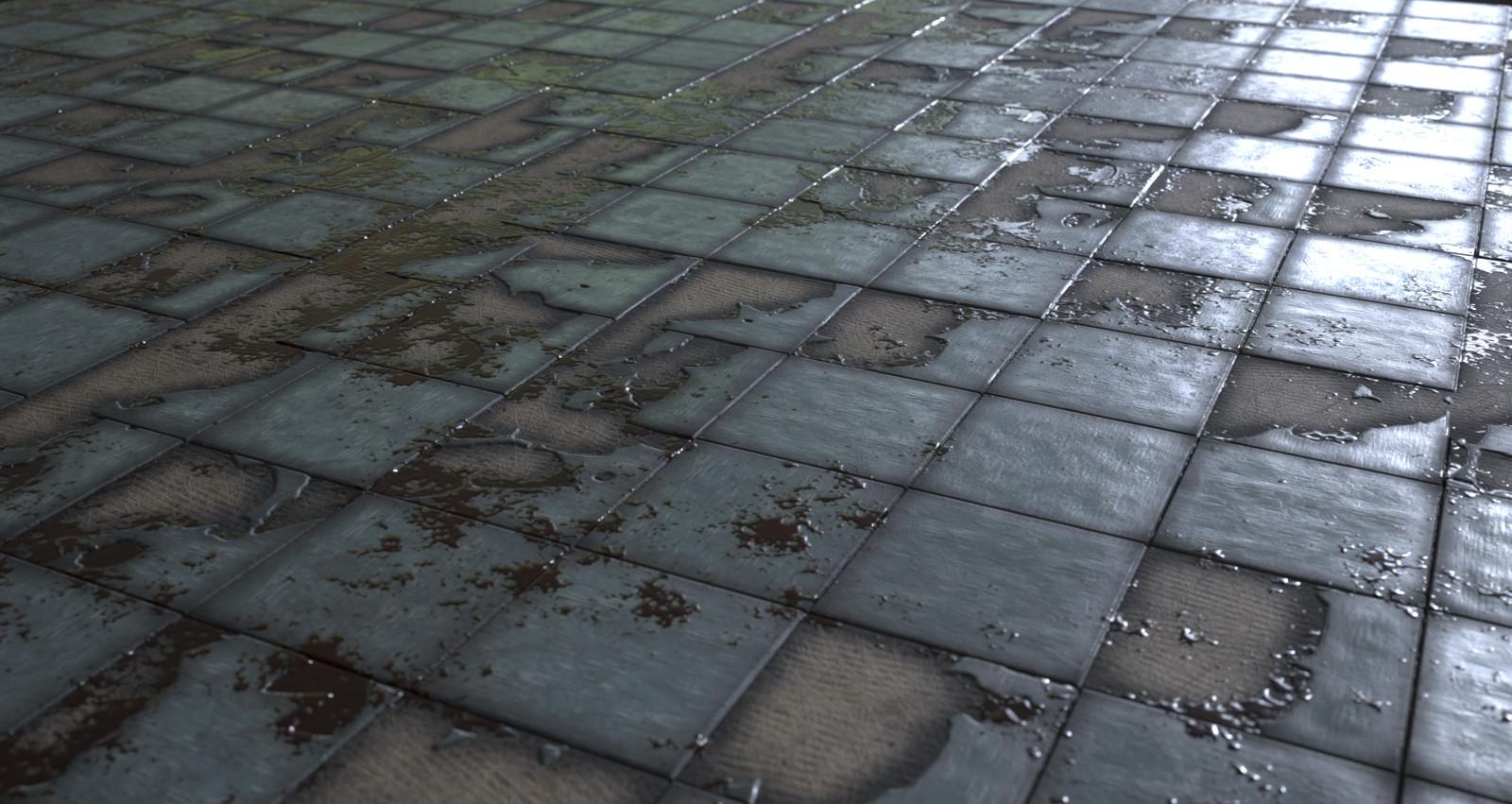 Vinyl floor.