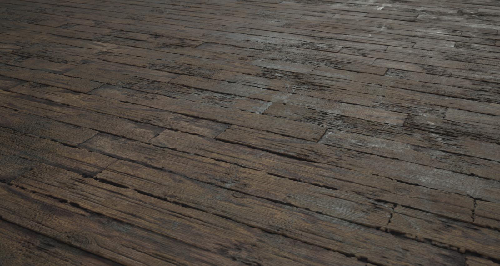 Rotten wood floor.