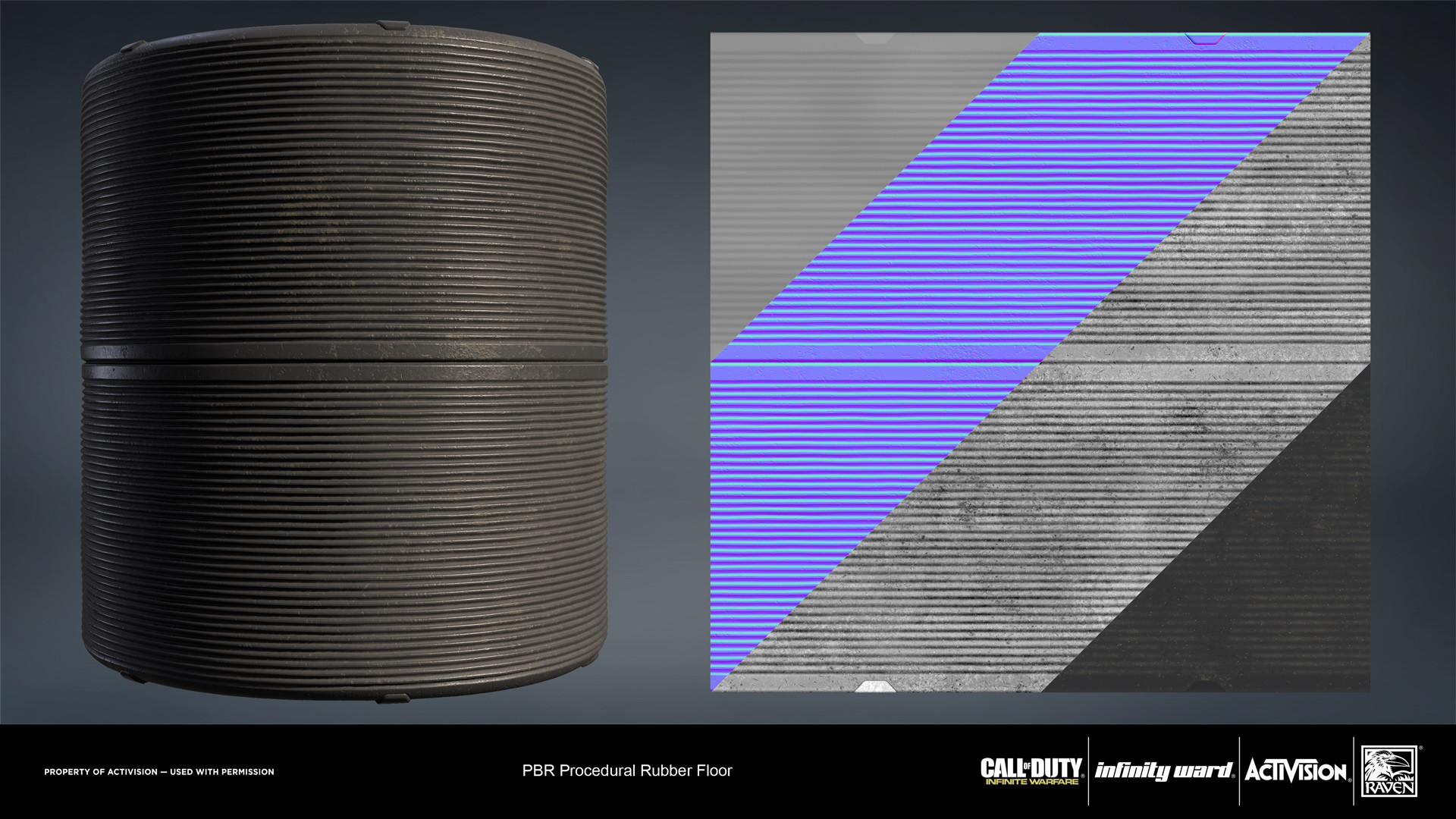 Rubber flooring material. Created entirely in Substance Designer.