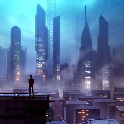 Godwin akpan futuristic city