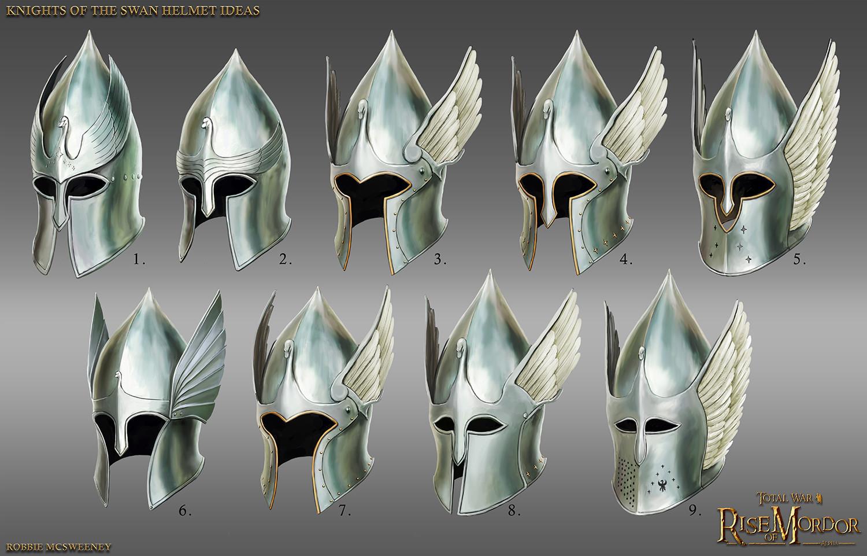 artstation knights of the swan dol amroth helmet ideas robbie