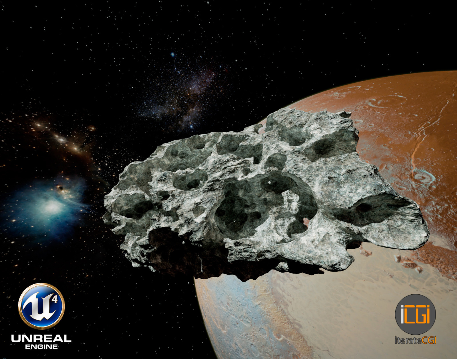 Detailed 3D Asteroid